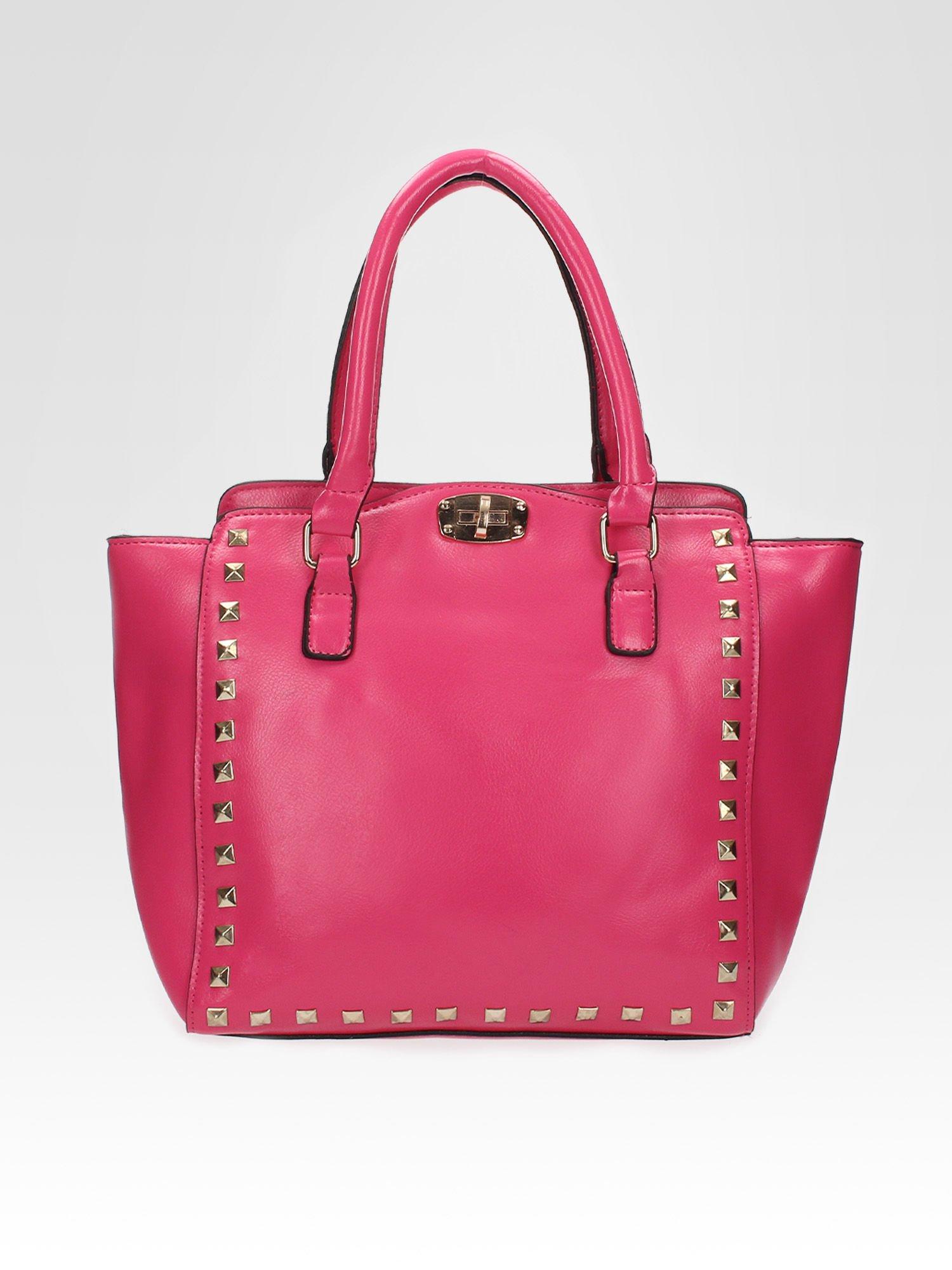 Różowa torebka na ramię z dżetami                                  zdj.                                  5