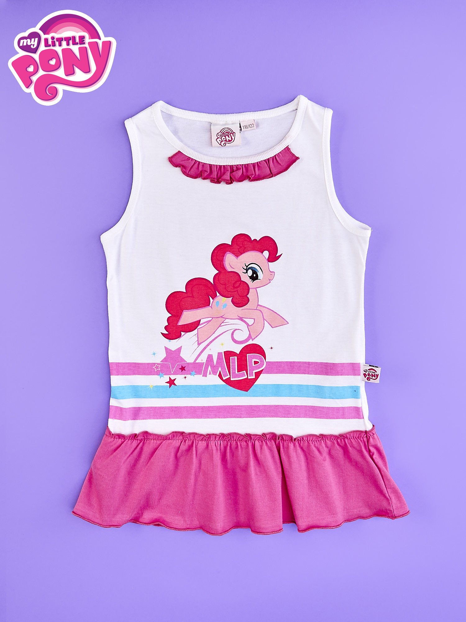 Różowa tunika dla dziewczynki z falbanką na dole MY LITTLE PONY                                  zdj.                                  1
