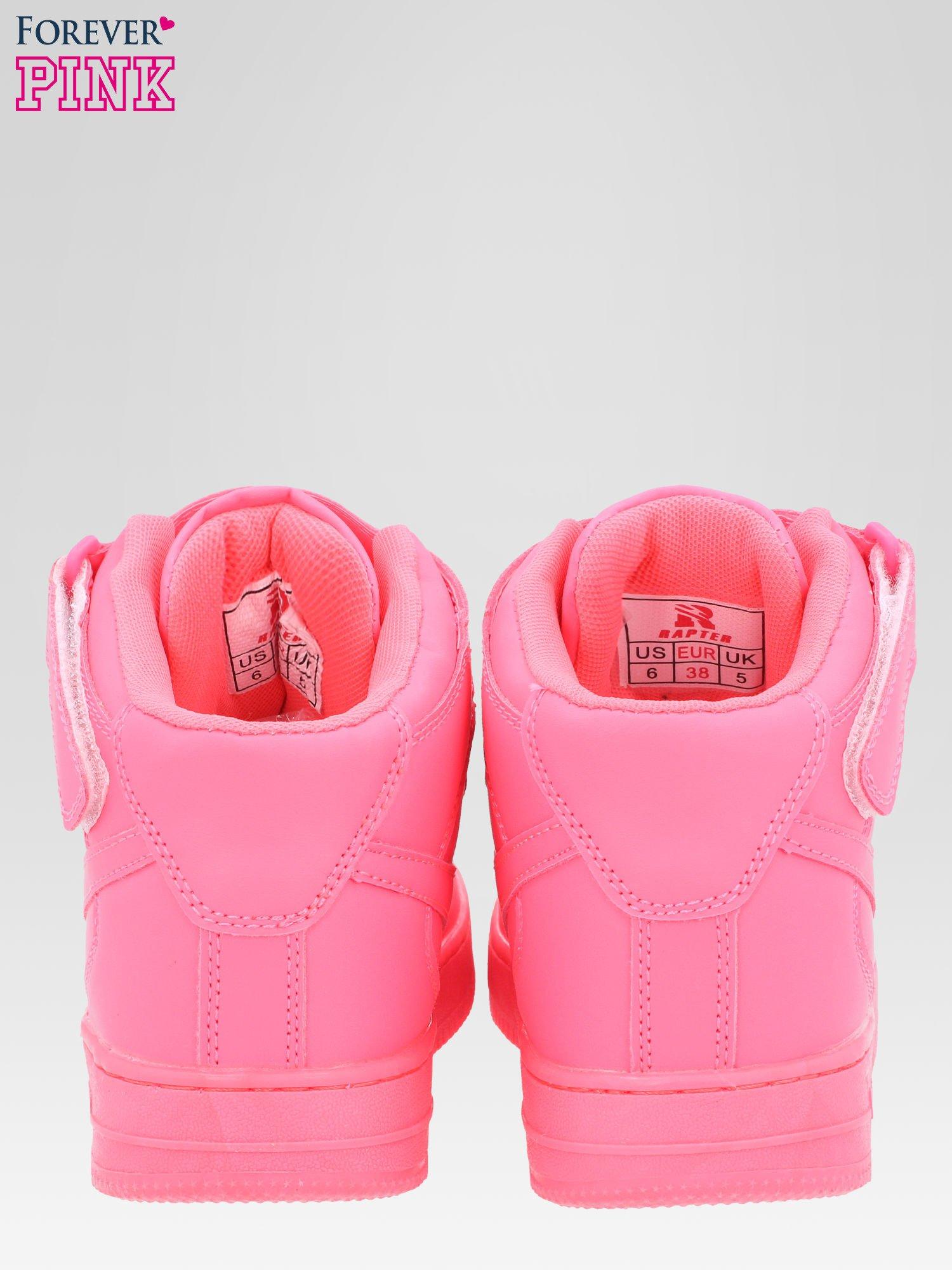 Różowe buty sportowe Heather za kostkę na grubej podeszwie                                  zdj.                                  6