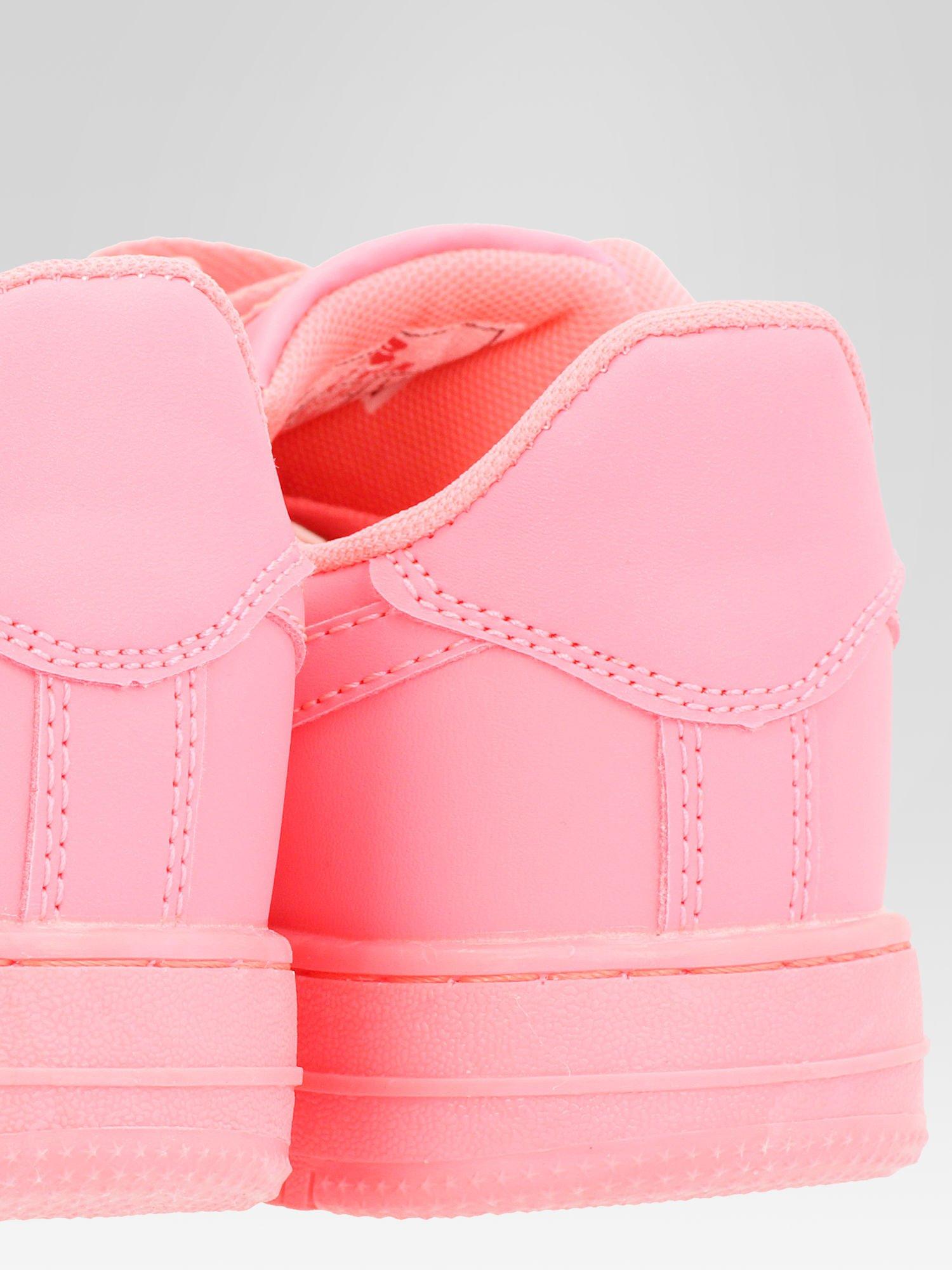 Różowe buty sportowe na grubej podeszwie                                  zdj.                                  6