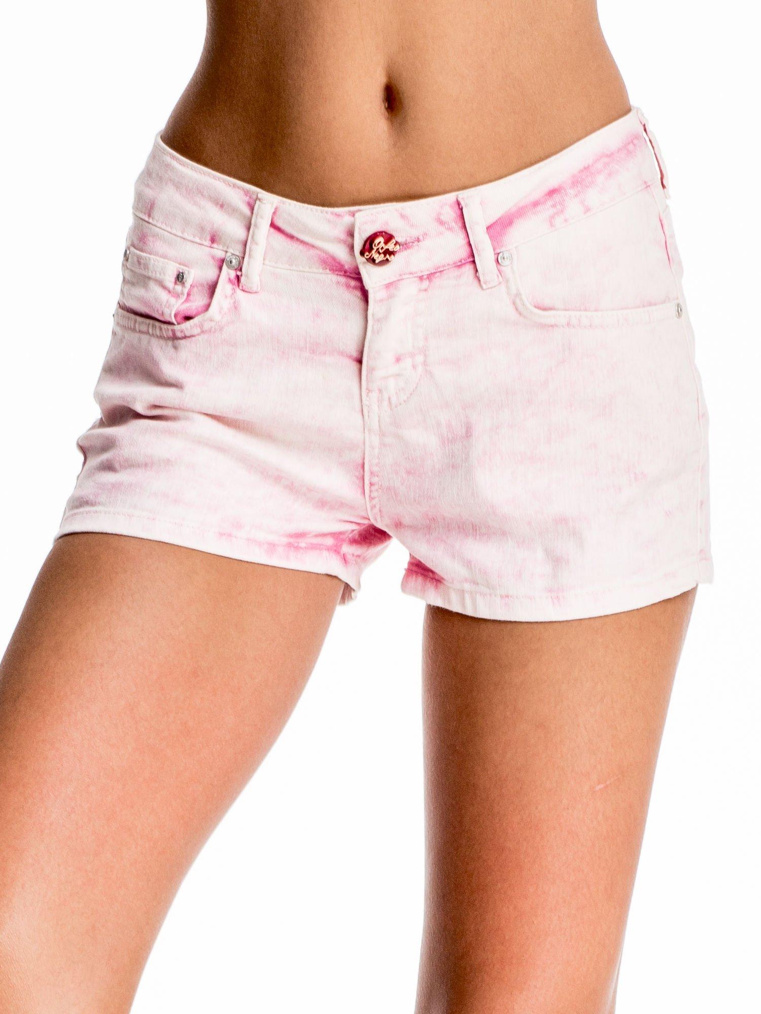 Różowe jeansowe szorty                                  zdj.                                  1