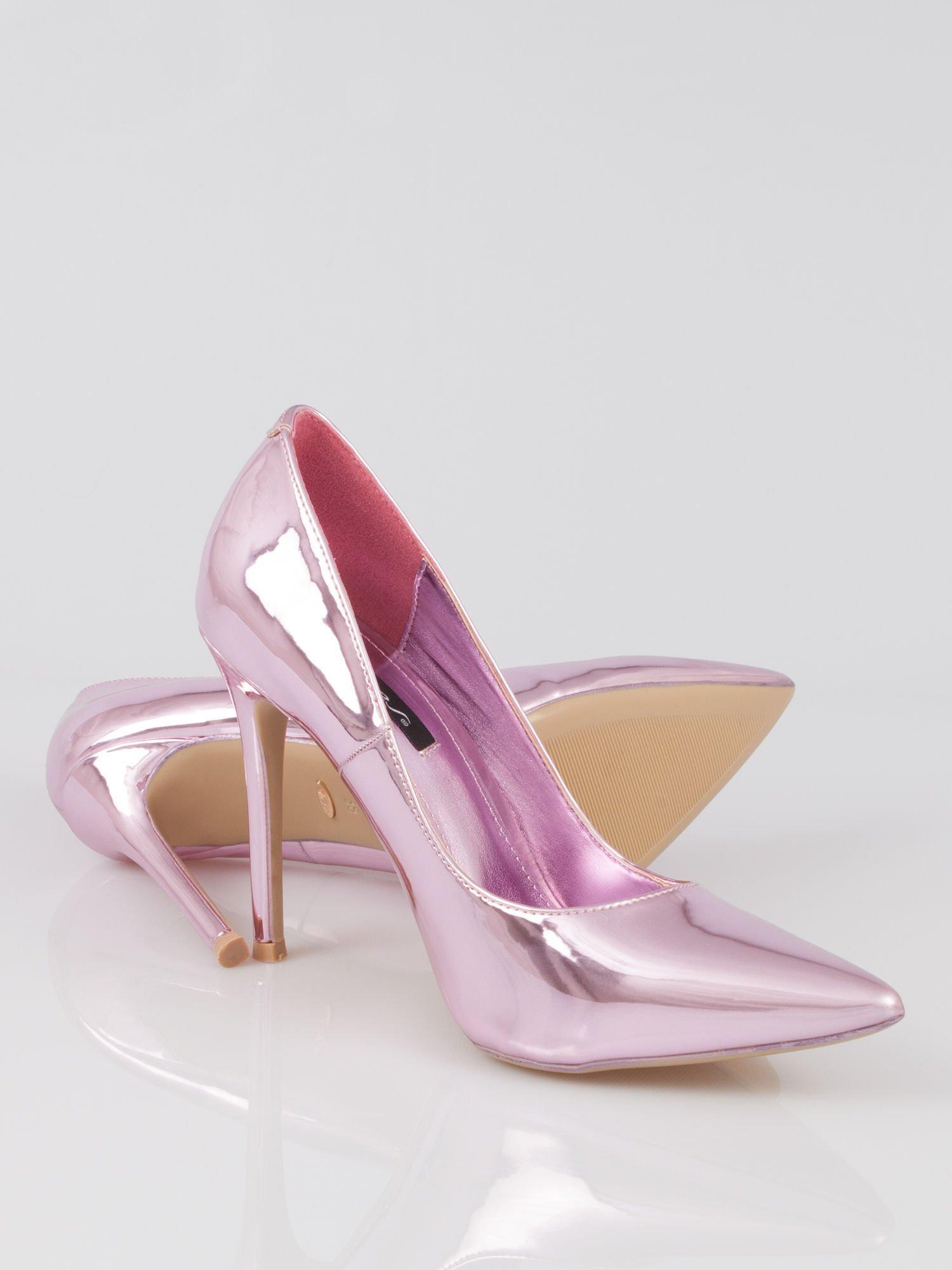 a07517f5 Różowe metaliczne szpilki w szpic Pinky - Buty Szpilki średnie ...