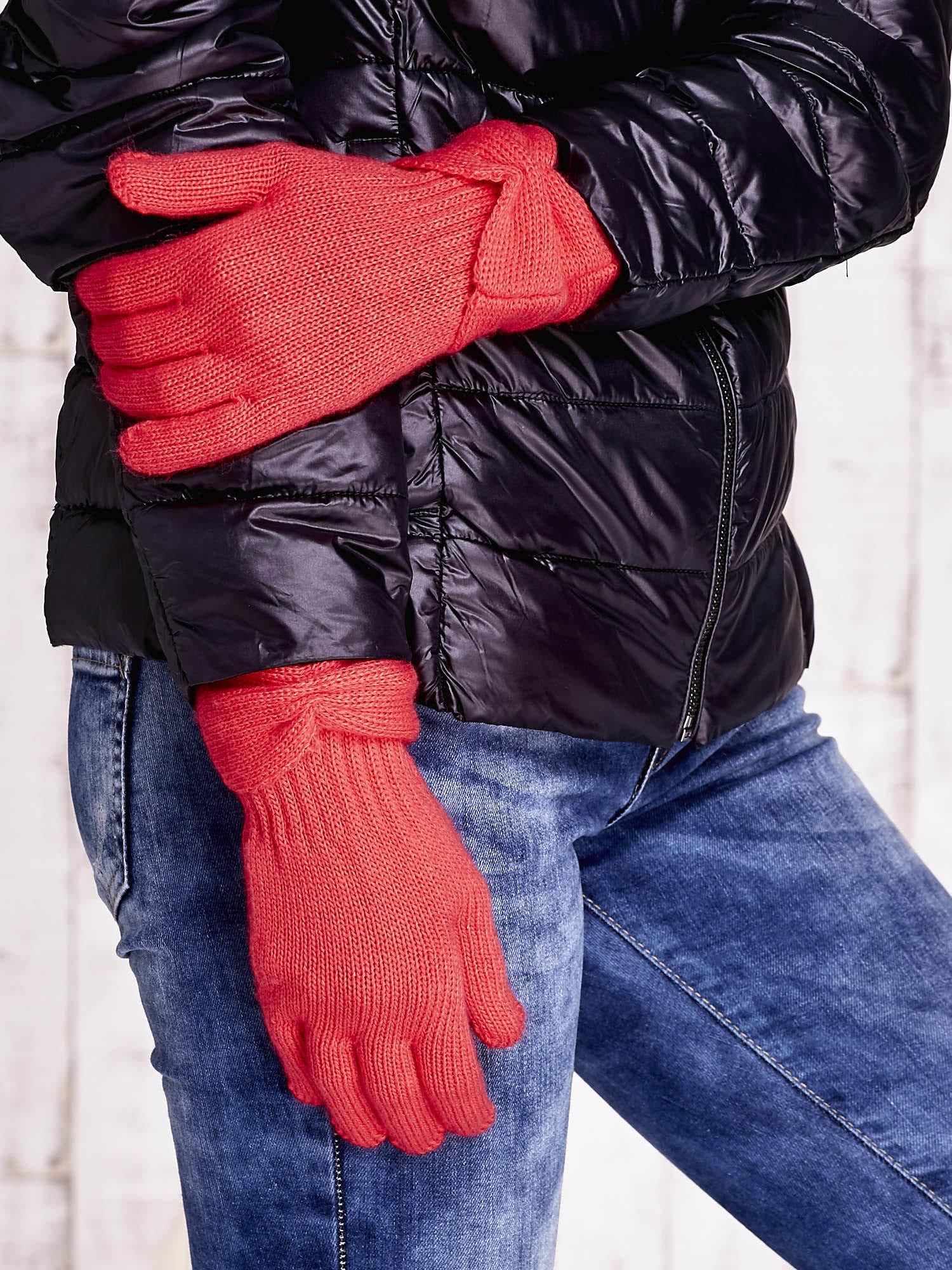 Różowe rękawiczki z kokardą w stylu retro                                  zdj.                                  3
