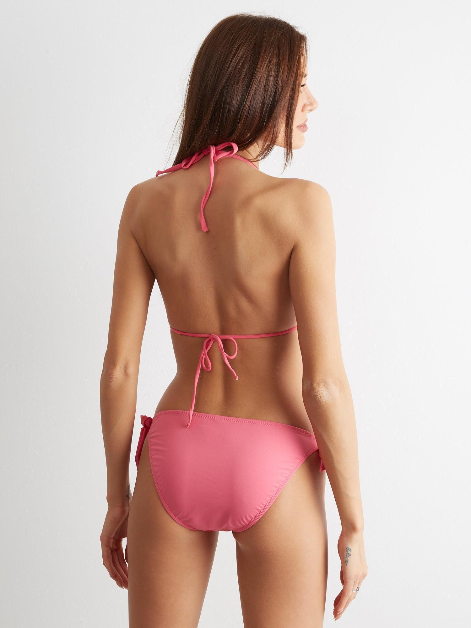 cdb6063b813dc6 Różowe wiązane bikini Trifler - Bielizna strój kąpielowy - sklep eButik.pl