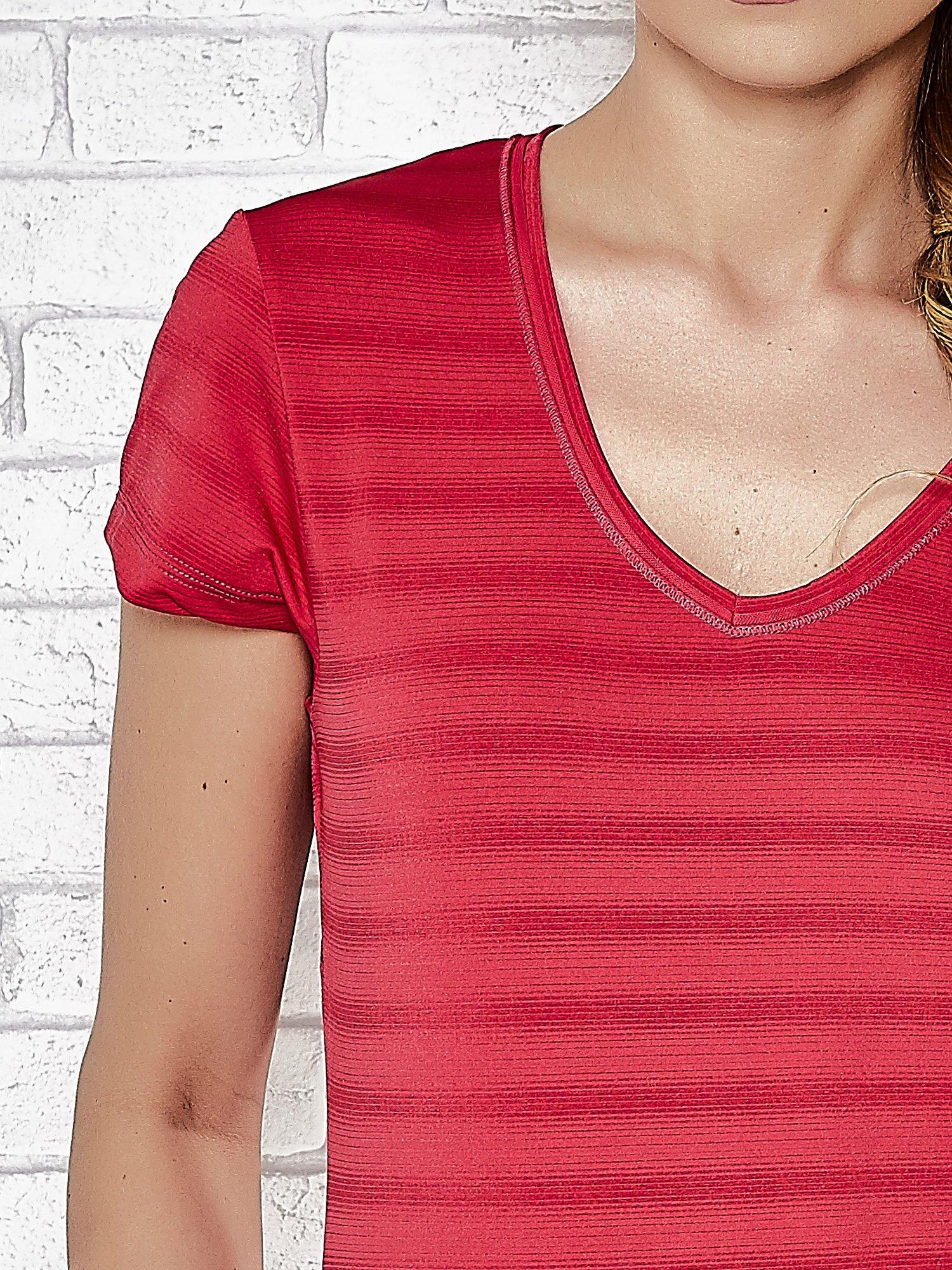 Różowy damski t-shirt sportowy PLUS SIZE                                  zdj.                                  5