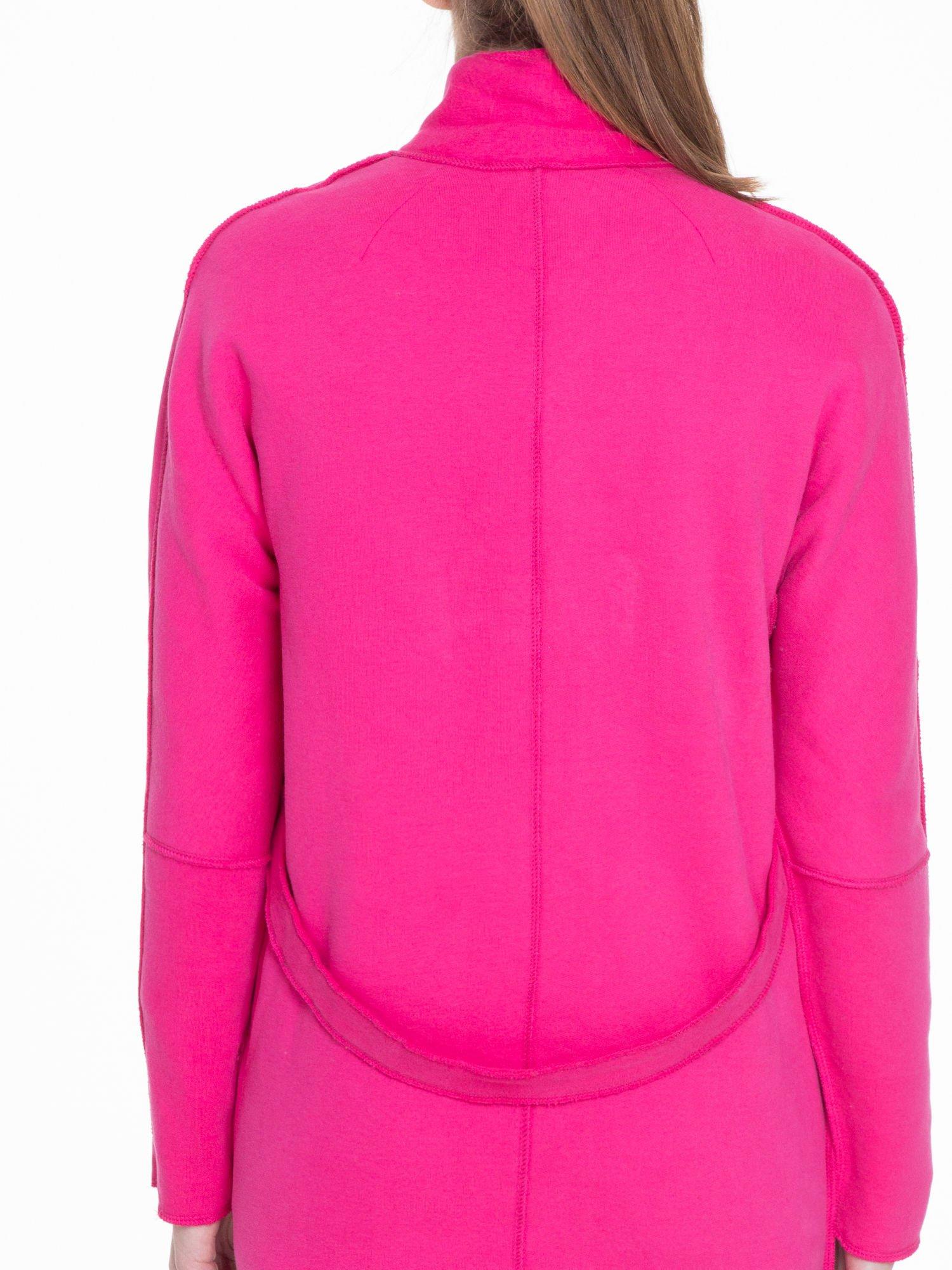 Różowy dresowy płaszcz o kroju oversize                                  zdj.                                  7