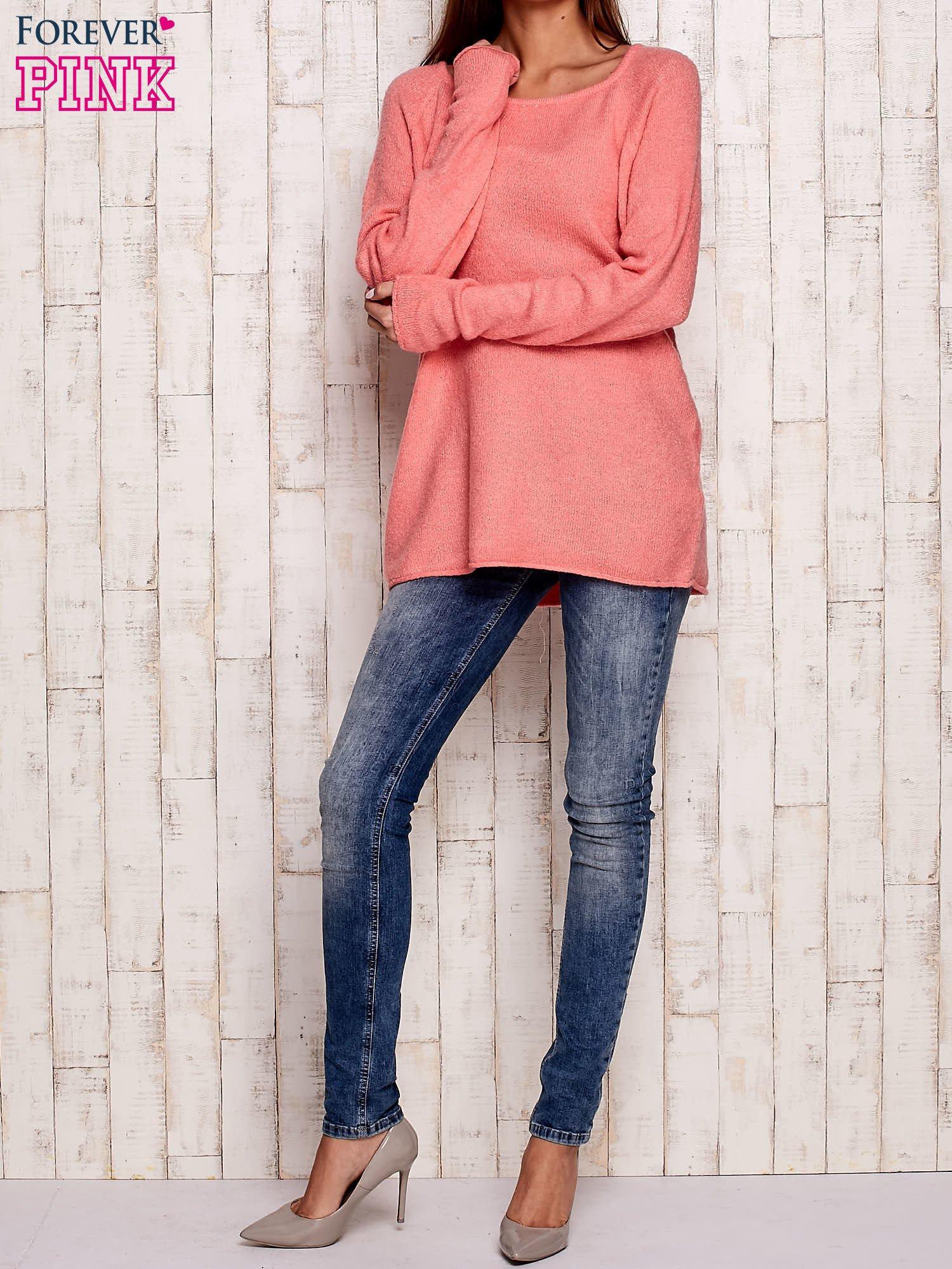 Różowy dzianinowy sweter                                   zdj.                                  2