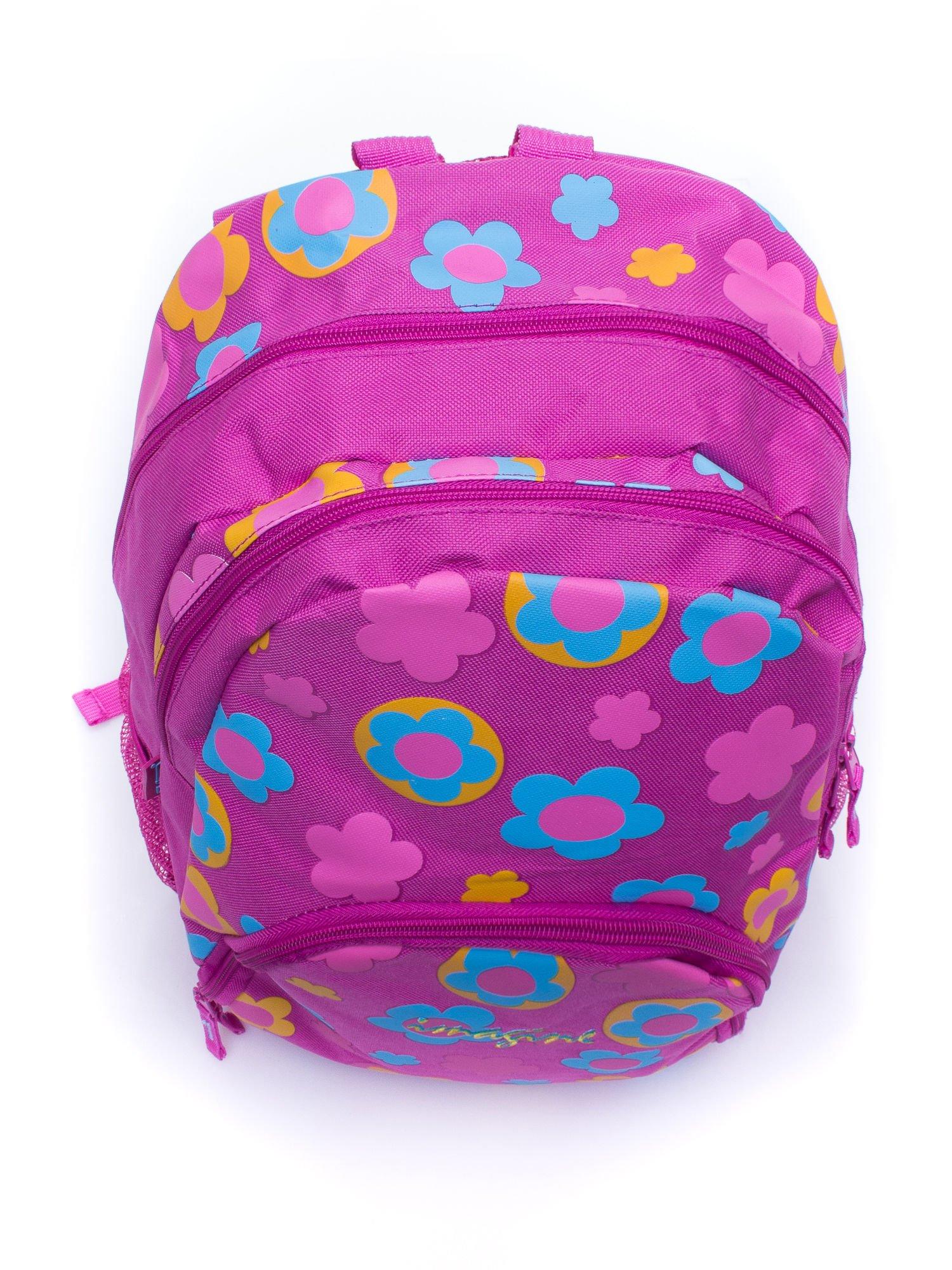 Różowy plecak dla dziewczynki DISNEY w kwiatki                                  zdj.                                  5