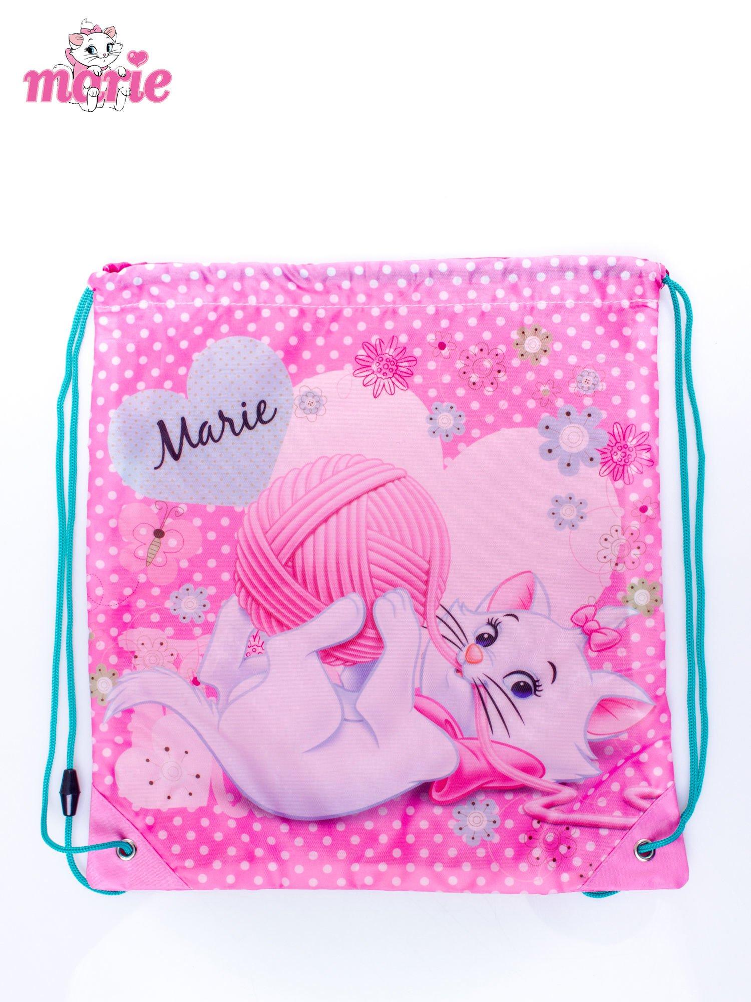 Różowy plecak worek DISNEY kotka Marie                                  zdj.                                  3
