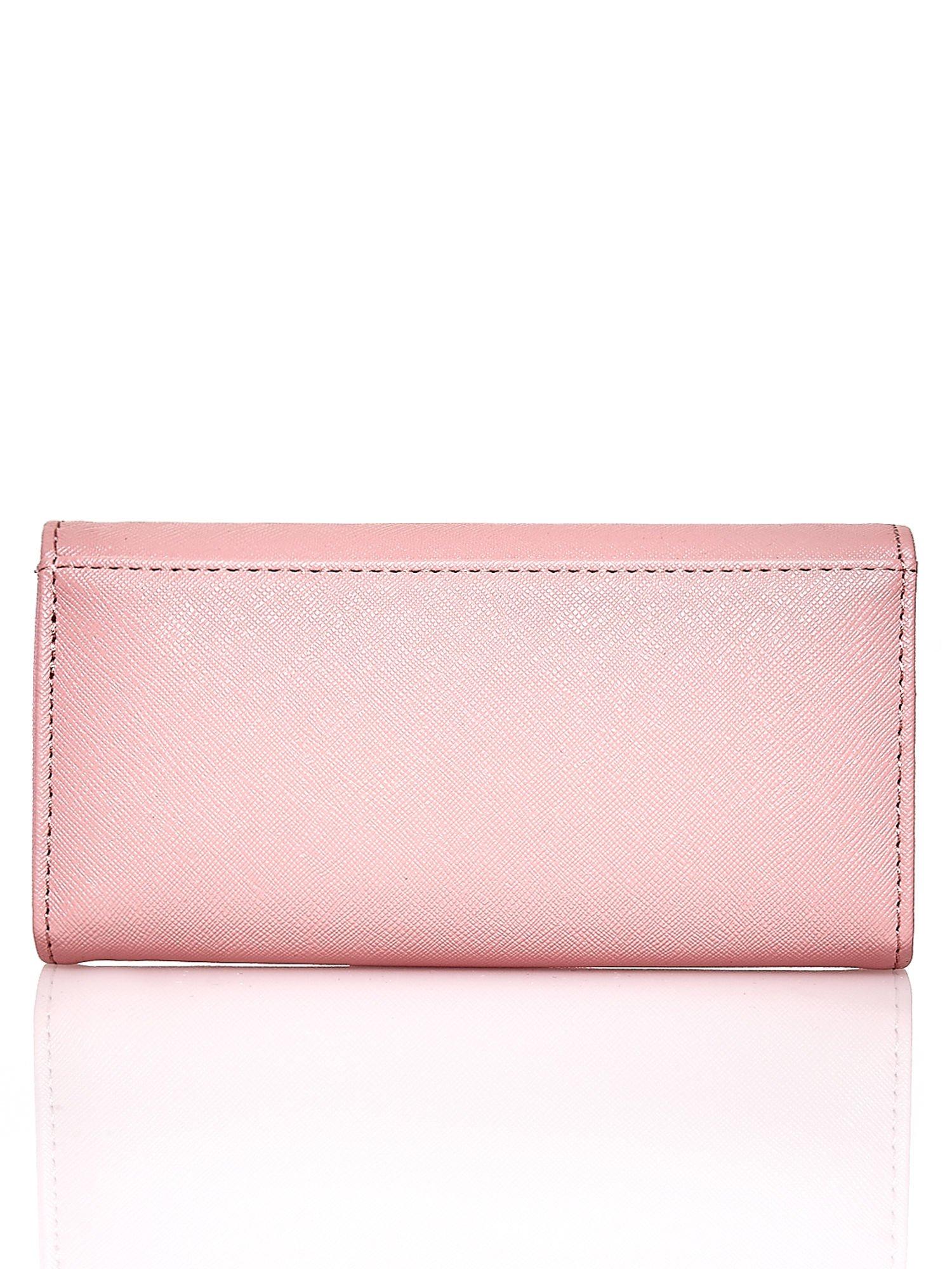 Różowy portfel z beżowym wykończeniem                                  zdj.                                  2