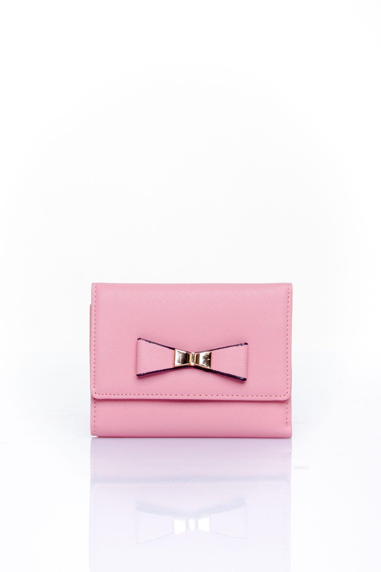 Różowy portfel z kokardką                                  zdj.                                  1