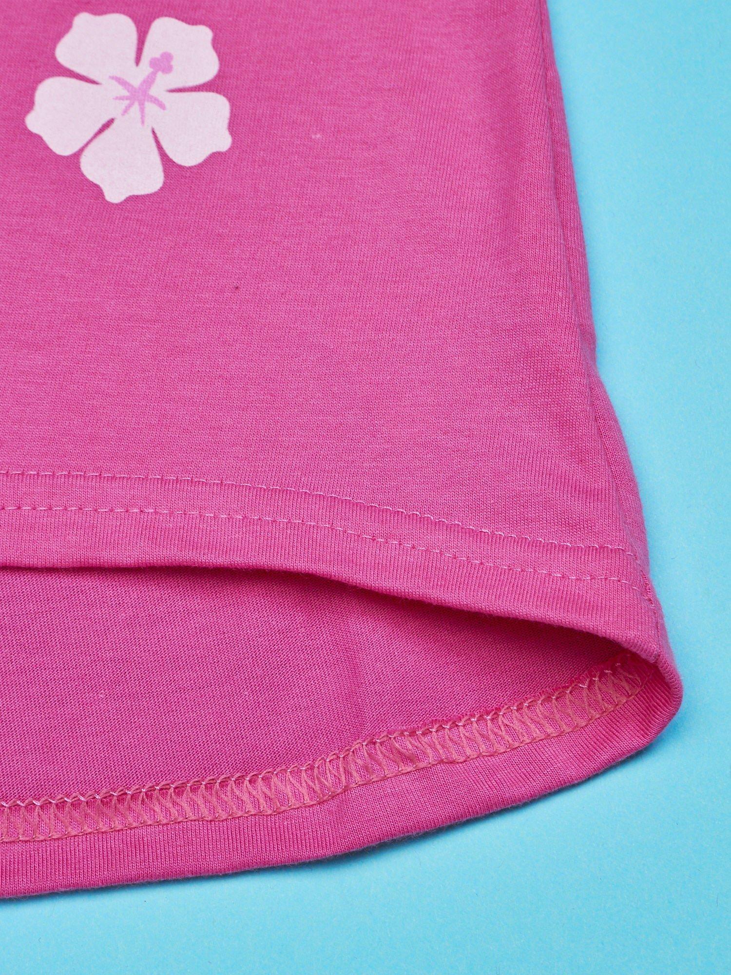 Różowy t-shirt dla dziewczynki bez rękawów HELLO KITTY                                  zdj.                                  6