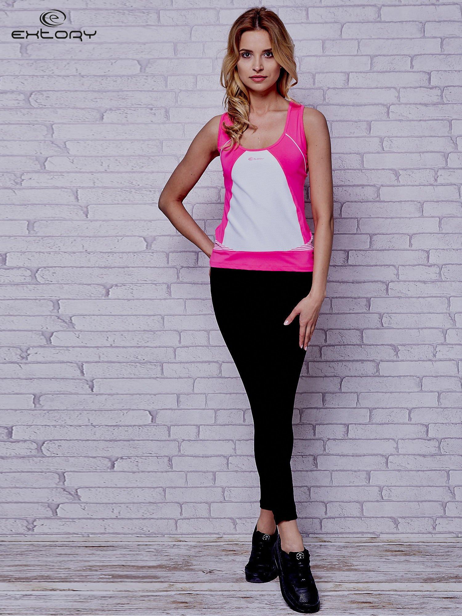 Różowy top sportowy na fitness                                  zdj.                                  2