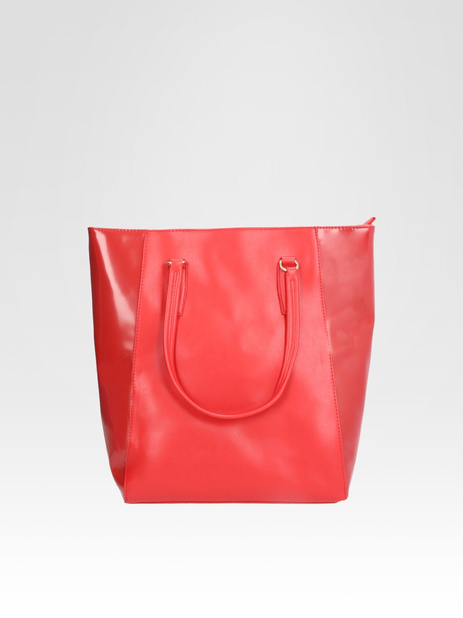 45819053bd212 STRADIVARIUS Czerwona torba shopper bag - Akcesoria torba - sklep eButik.pl