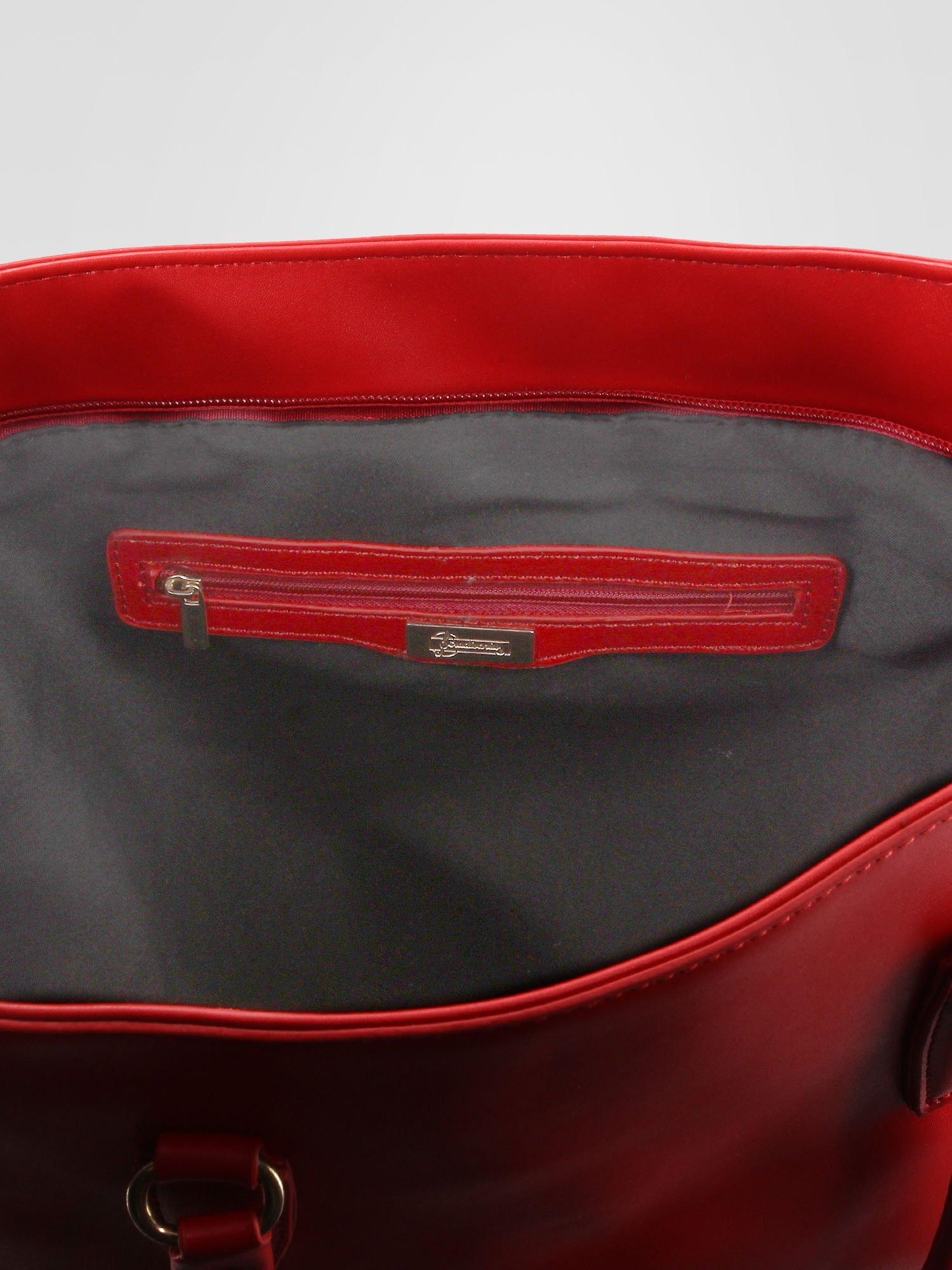 0a56fef836894 STRADIVARIUS Czerwona torba shopper bag - Akcesoria torba - sklep ...