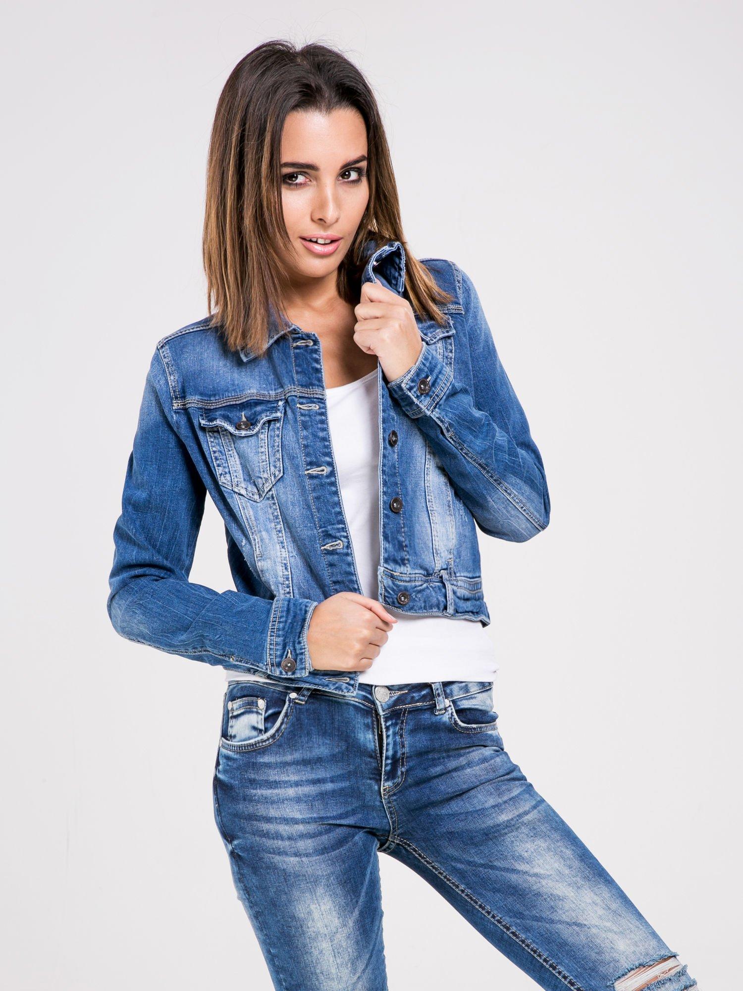 STRADIVARIUS Kurtka jeansowa z cieniowanego denimu                                  zdj.                                  1