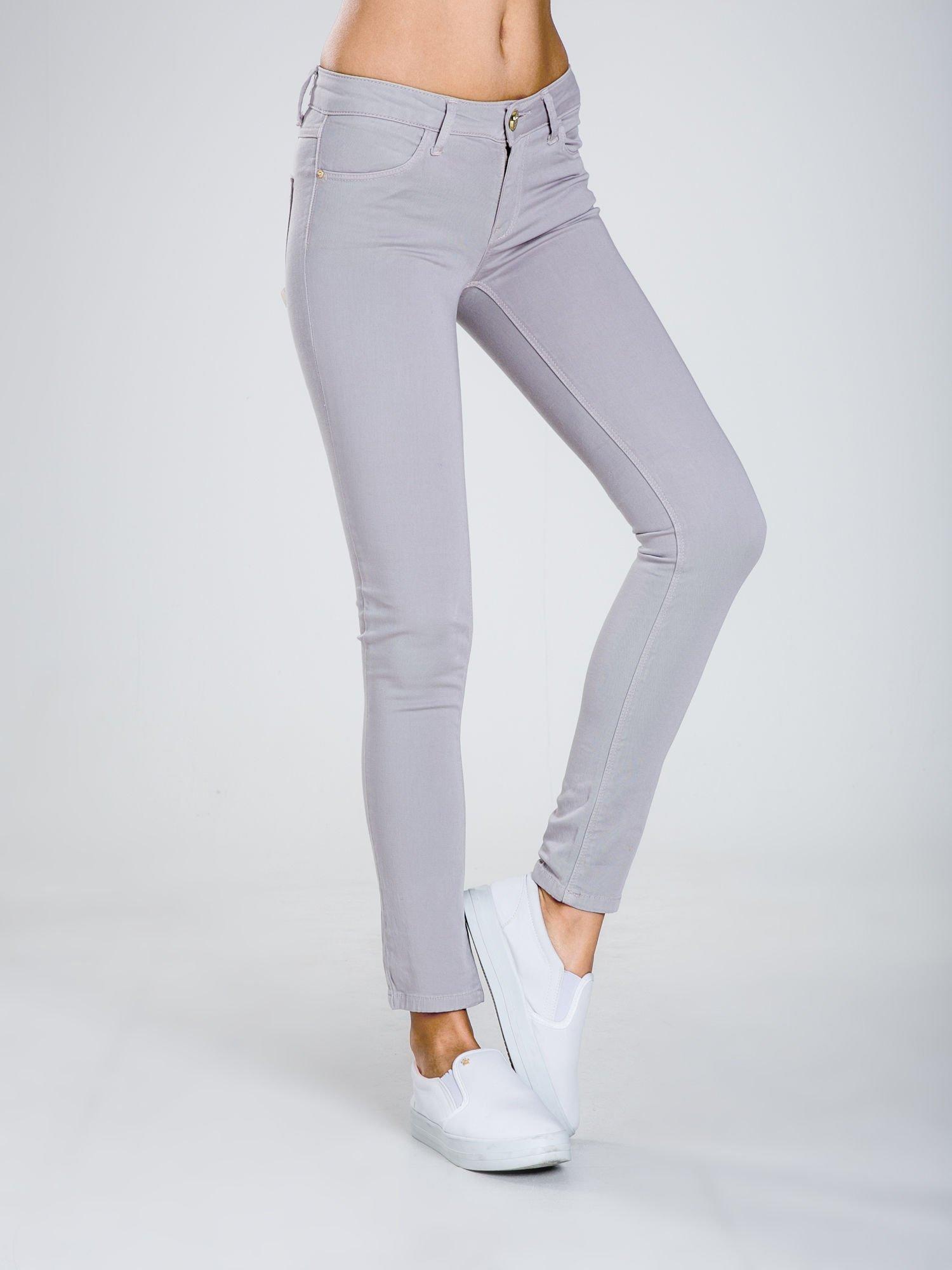 STRADIVARIUS Szare spodnie skinny typu rurki                                  zdj.                                  1