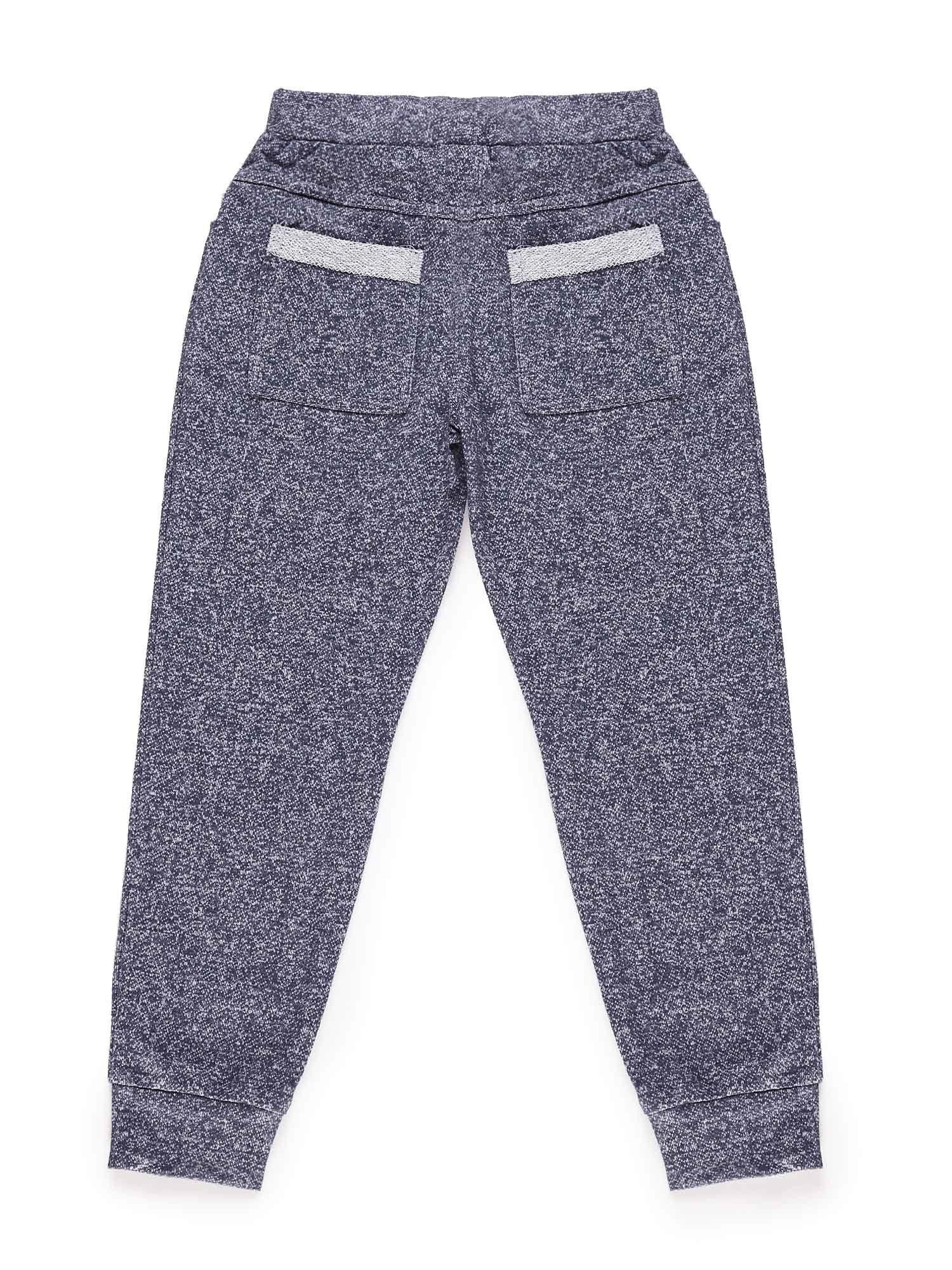 Spodnie dresowe chłopięce melanżowe granatowe