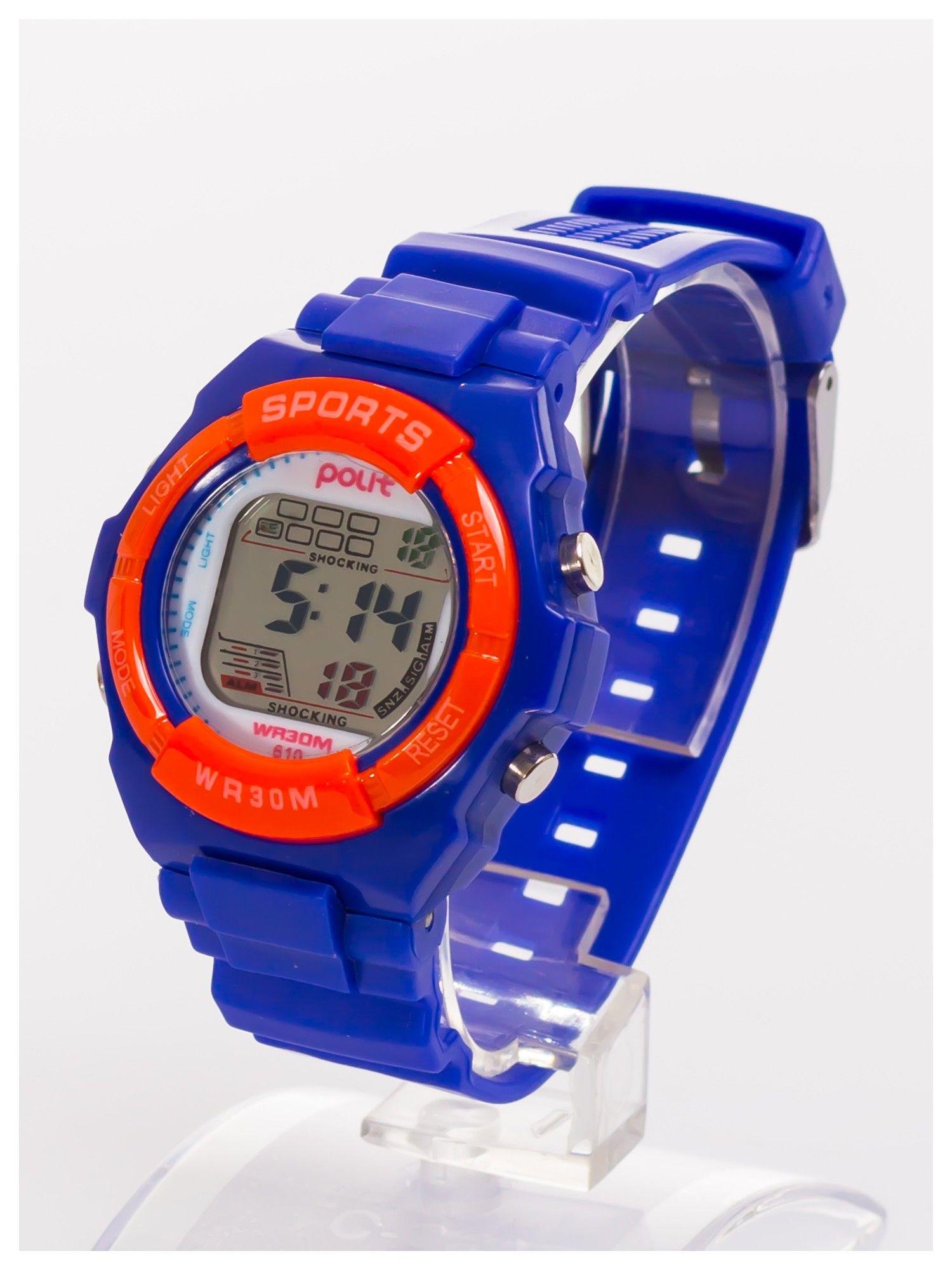 Sportowy zegarek wielofunkcyjny. Łatwy w obsłudze. Wodoodporny.                                   zdj.                                  2
