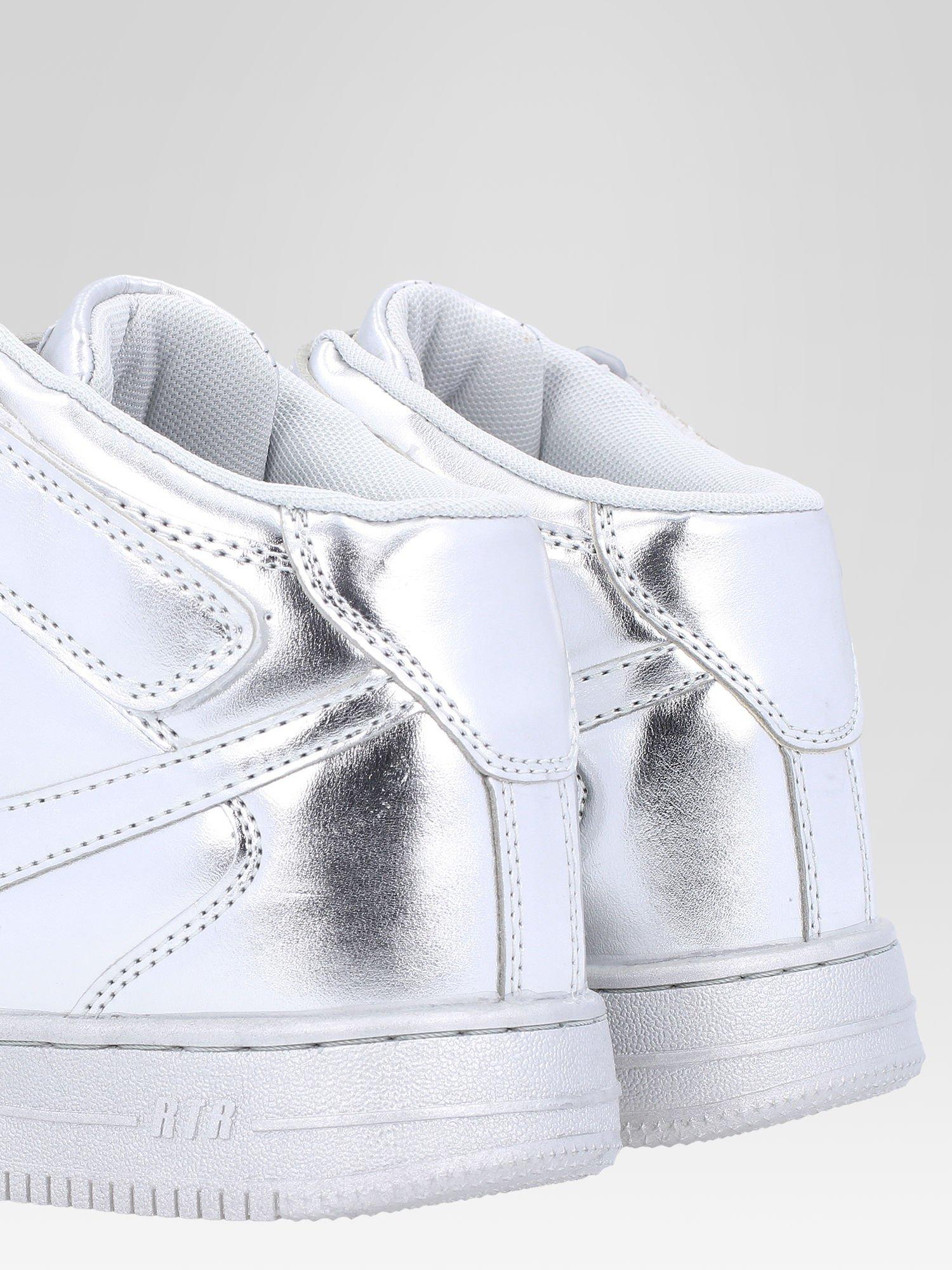 Srebrne buty sportowe Heather za kostkę na grubej podeszwie                                  zdj.                                  6