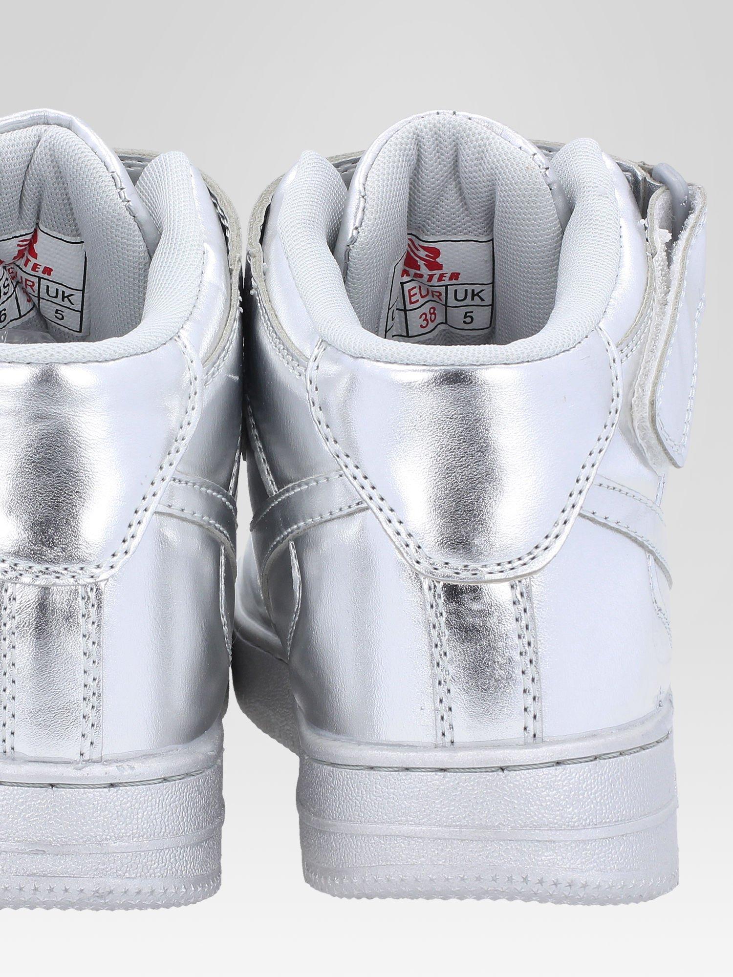 Srebrne buty sportowe Heather za kostkę na grubej podeszwie                                  zdj.                                  7