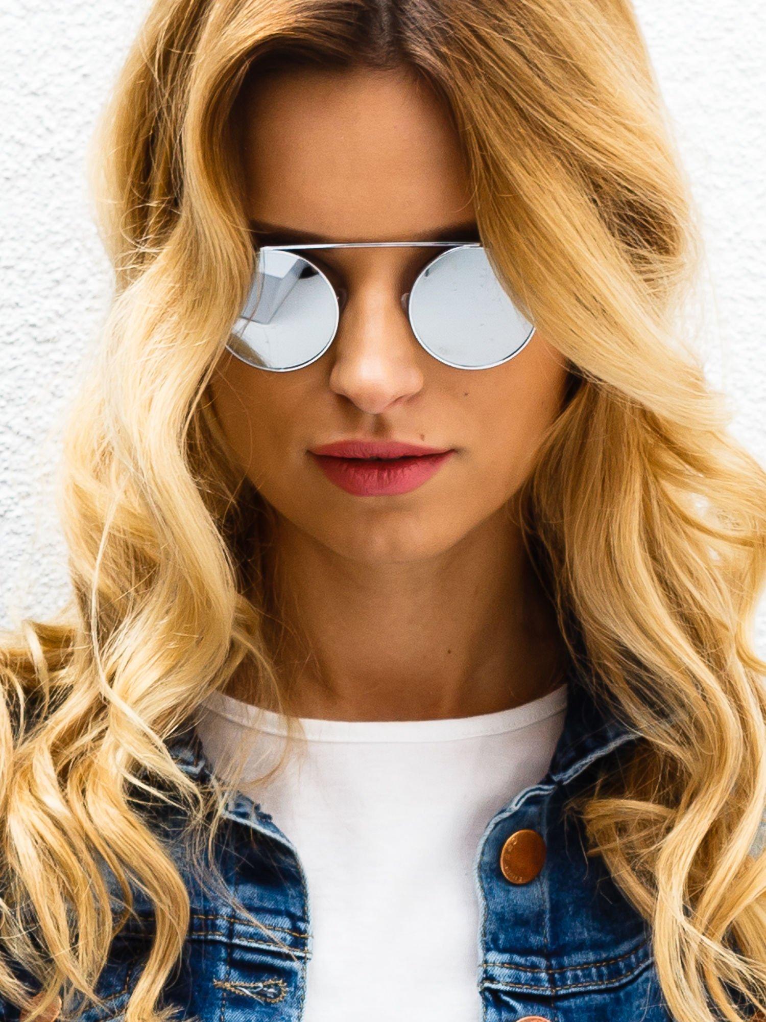 Srebrne okulary przeciwsłoneczne LENONKI lustrzanka                                  zdj.                                  2