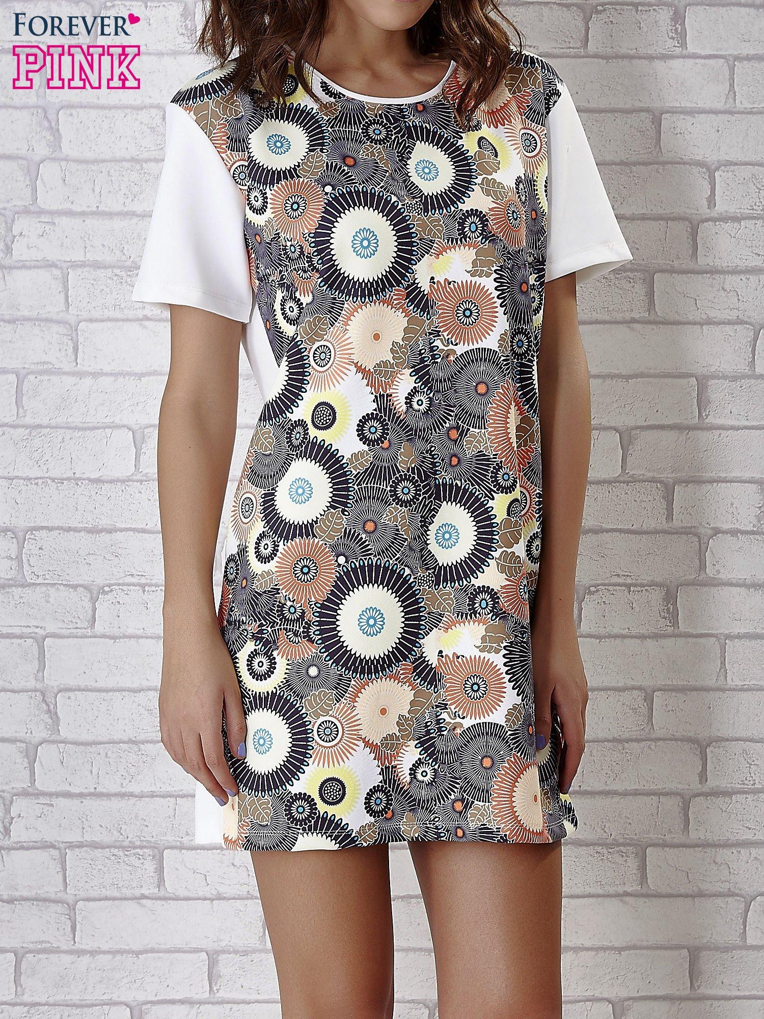 Sukienka z okrągłym kwiatowym nadrukiem                                  zdj.                                  5