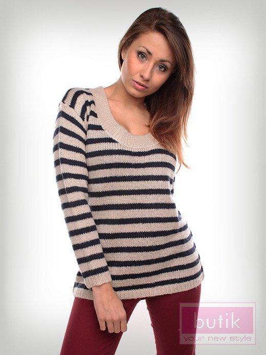 Sweter w paski                                  zdj.                                  1