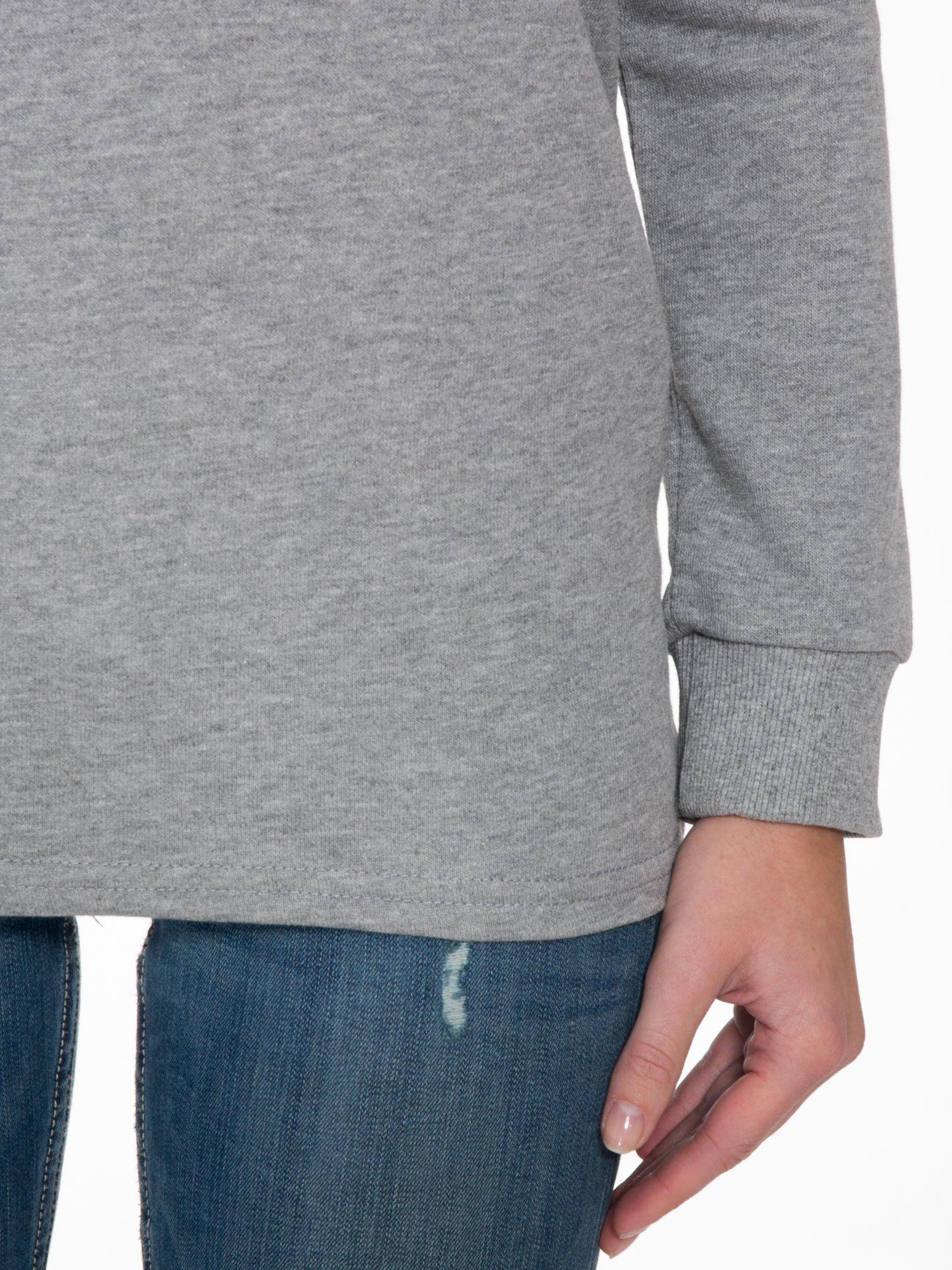 Szara bluza z nadrukiem HOMIÈS                                  zdj.                                  5