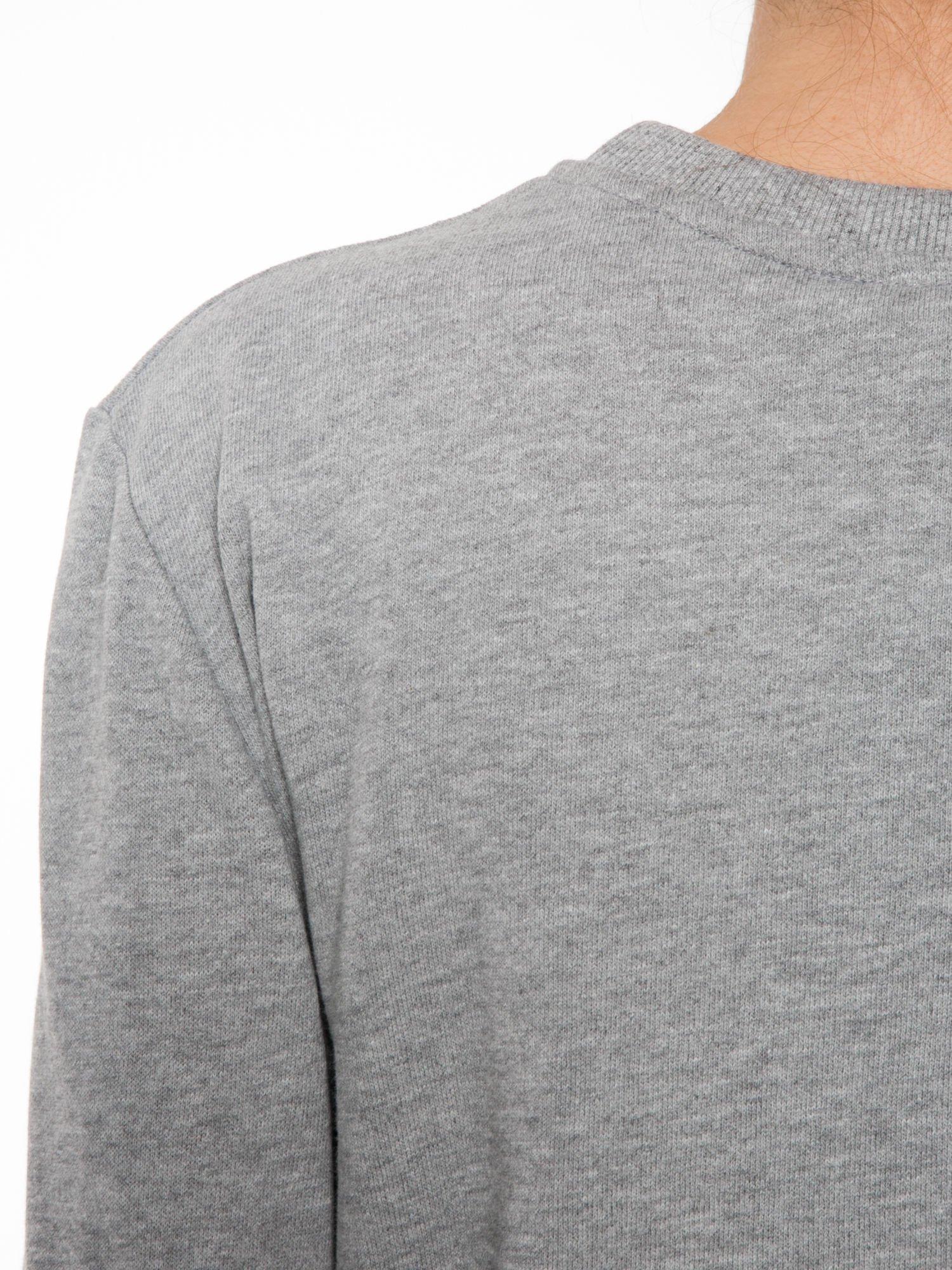 Szara bluza z nadrukiem HOMIÈS                                  zdj.                                  6
