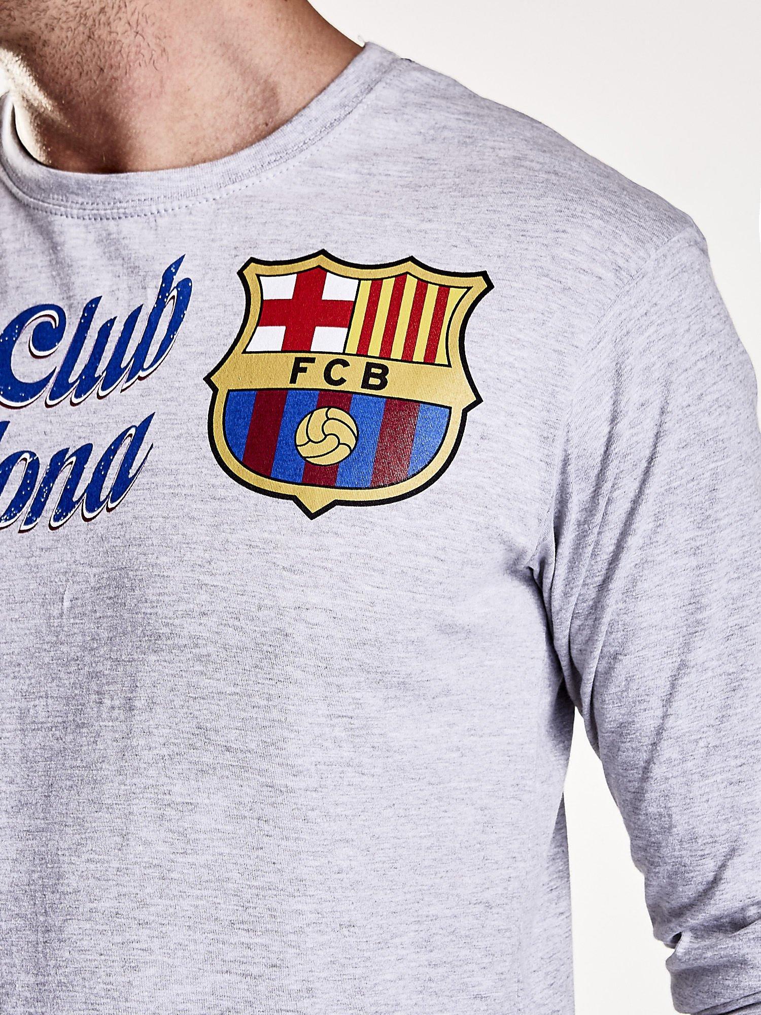 Szara bluzka męska FC BARCELONA                                  zdj.                                  7