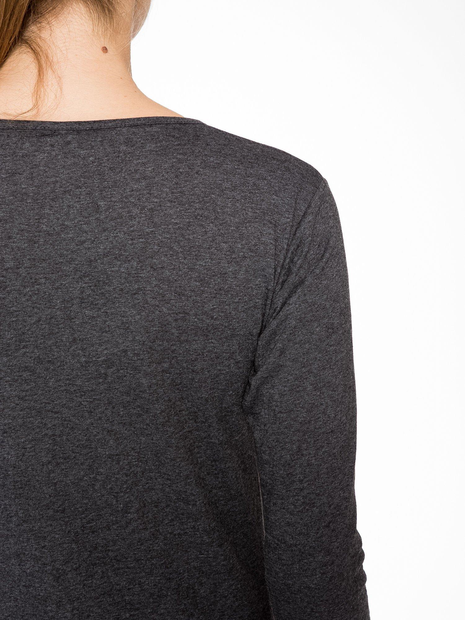 Szara bluzka z portretem Audrey Hepburn                                  zdj.                                  9