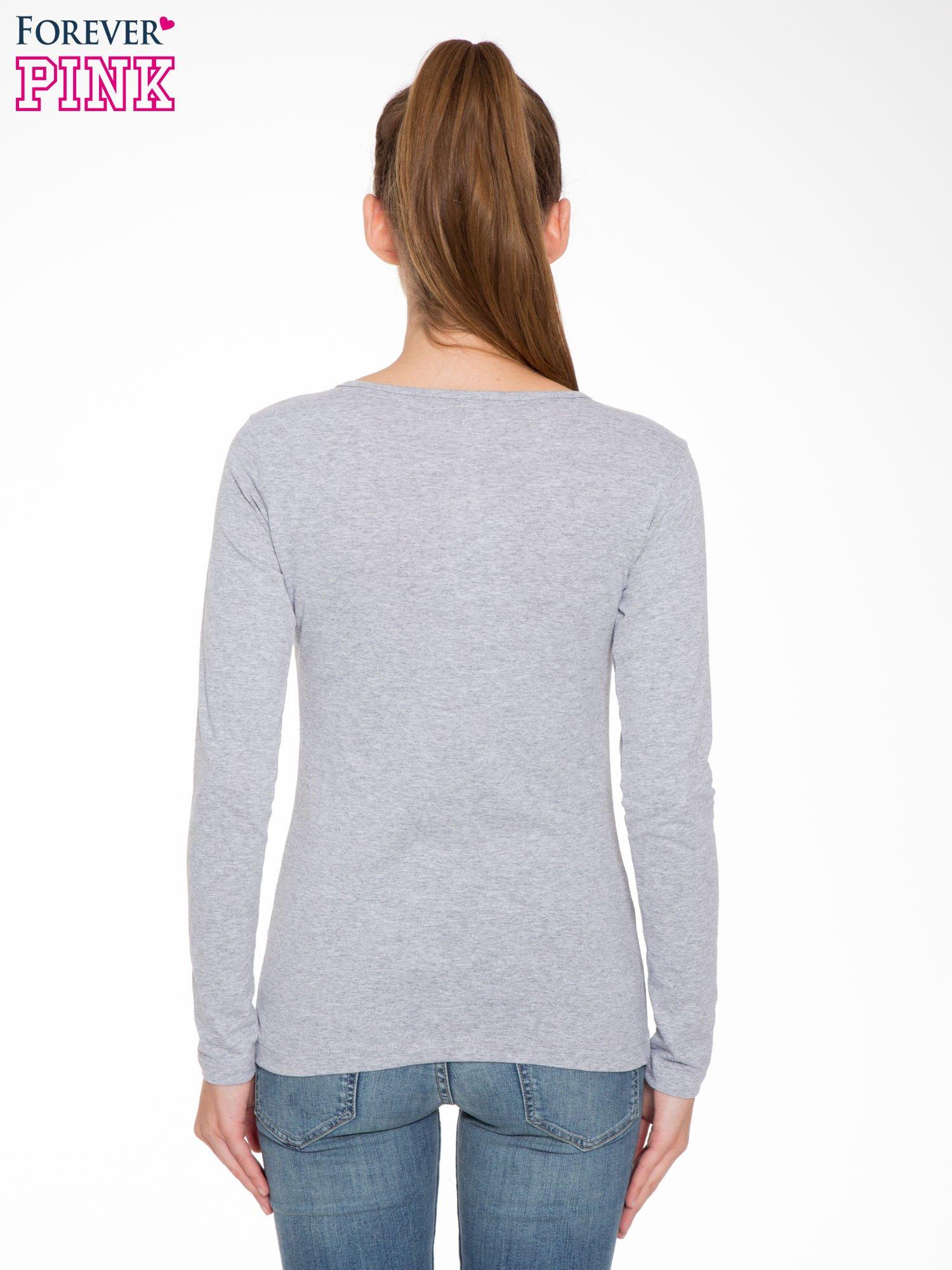 Szara bluzka z portretem kobiety i napisem GOOD GIRLS...                                  zdj.                                  4