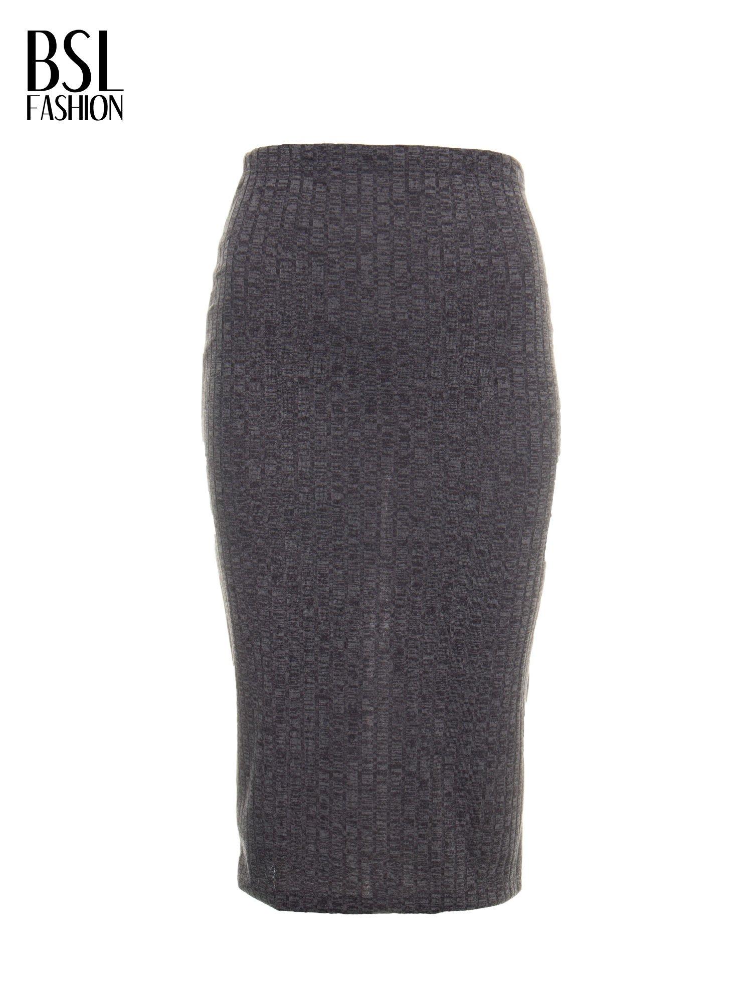 Szara dzianinowa spódnica za kolano                                  zdj.                                  5