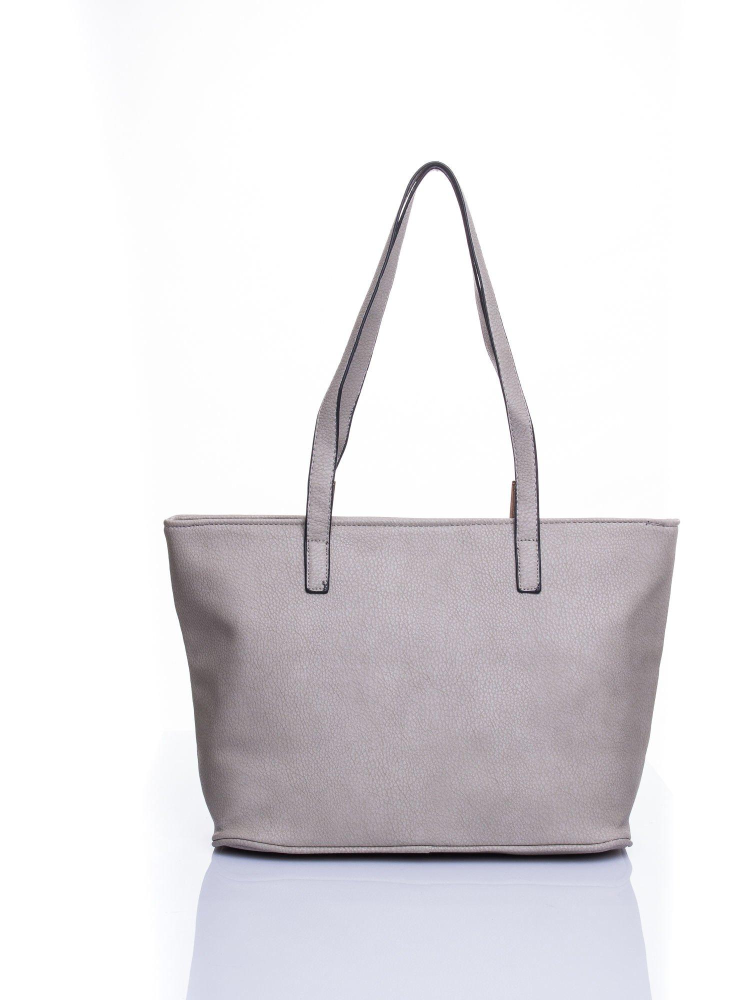 Szara prosta torba shopper bag                                  zdj.                                  3