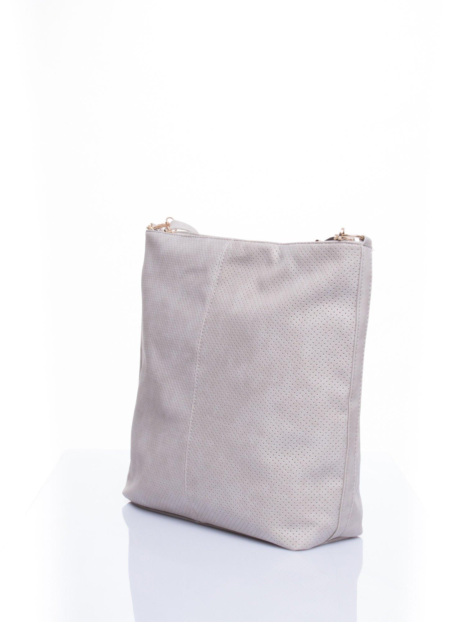 Szara siateczkowa torba hobo                                  zdj.                                  4