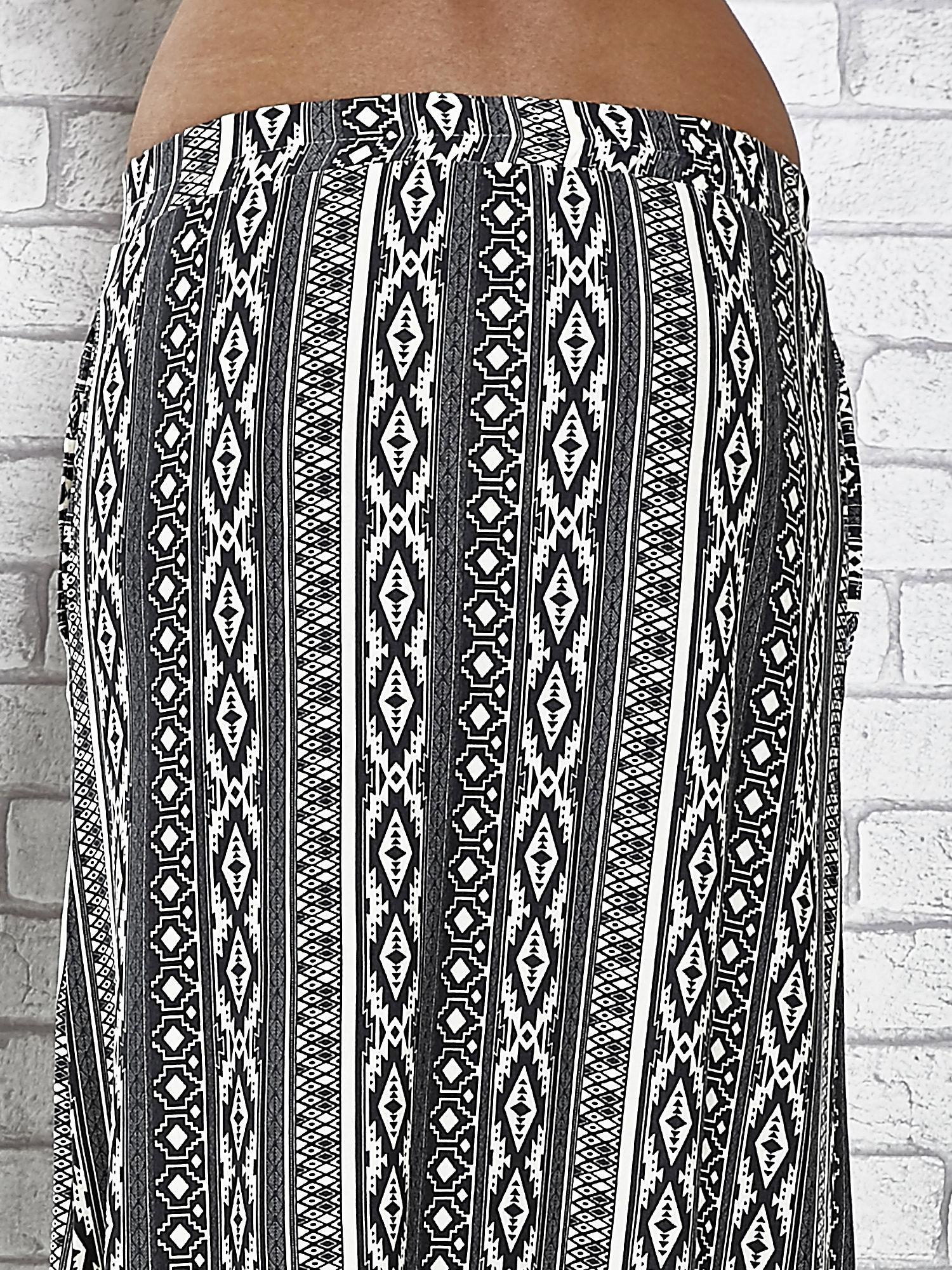 Szara spódnica maxi w azteckie wzory                                  zdj.                                  7