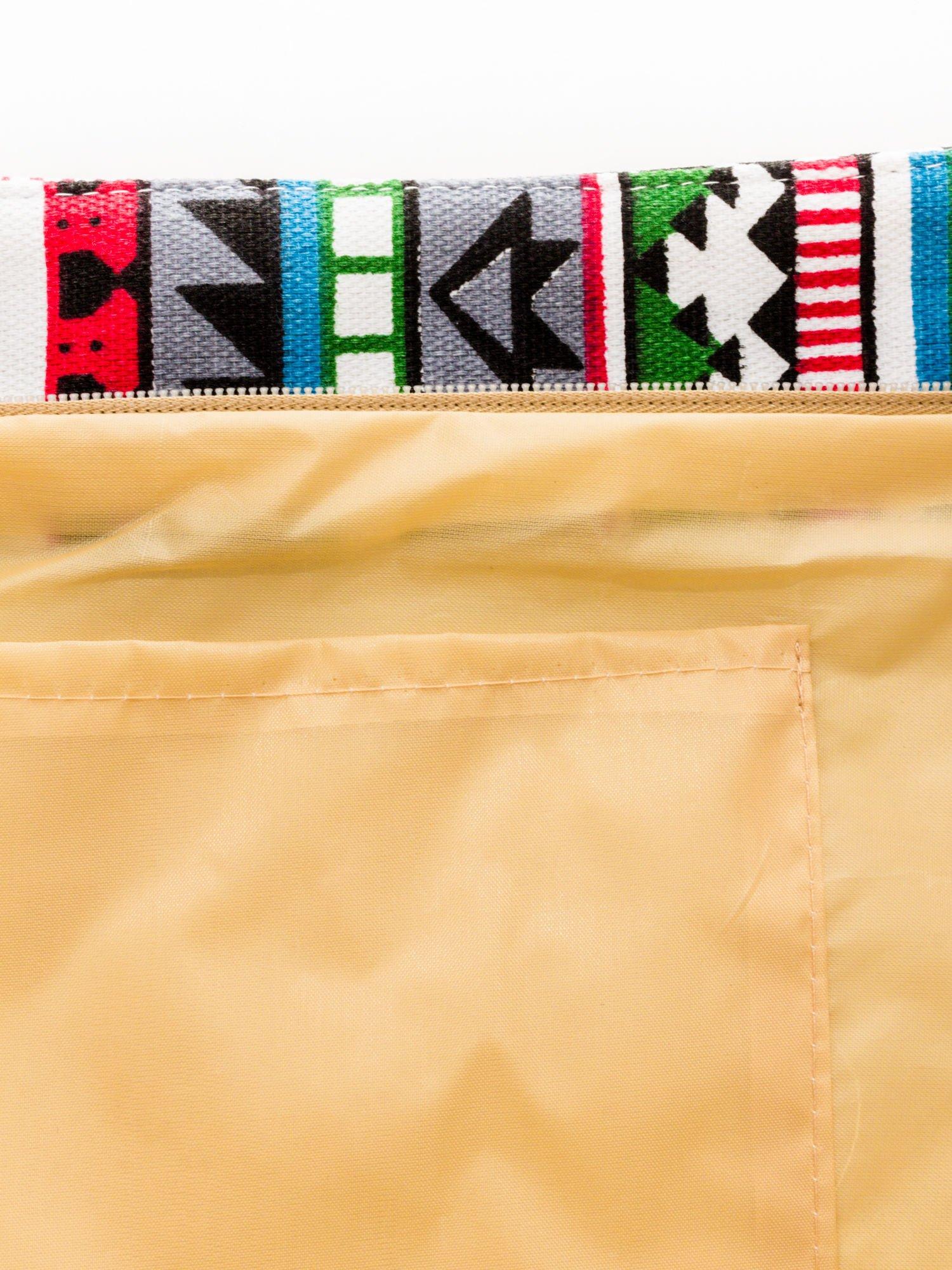 Szara torba plażowa w azteckie wzory                                  zdj.                                  9