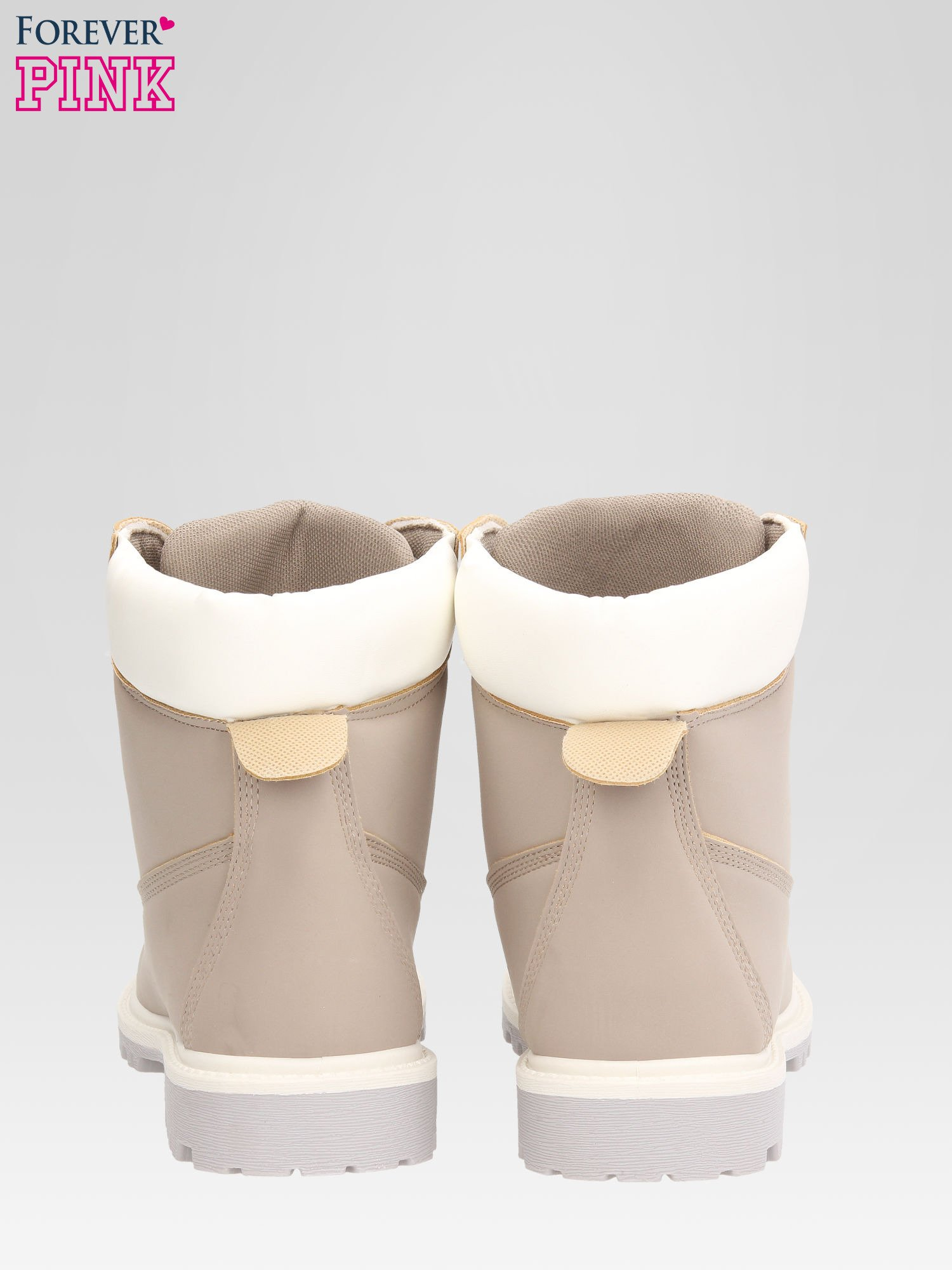 Szare buty trekkingowe damskie traperki                                  zdj.                                  3