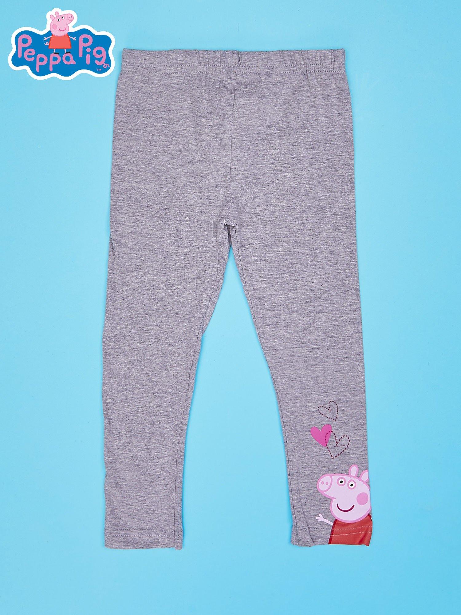 Szare legginsy dla dziewczynki motyw ŚWINKA PEPPA                                  zdj.                                  1