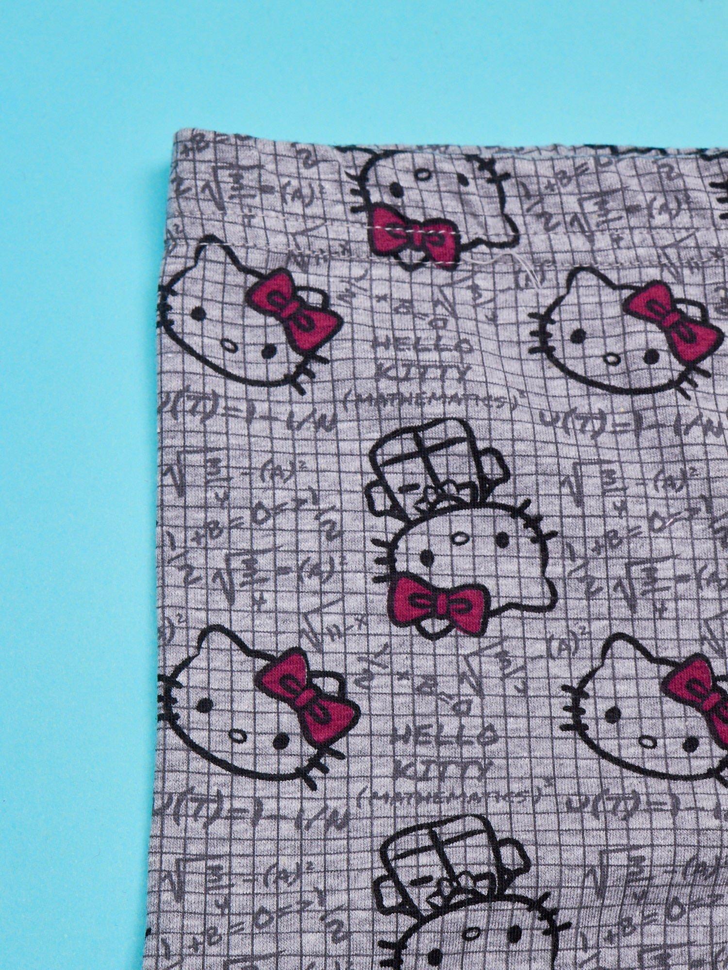 Szare legginsy dla dziewczynki z nadrukiem HELLO KITTY                                  zdj.                                  3