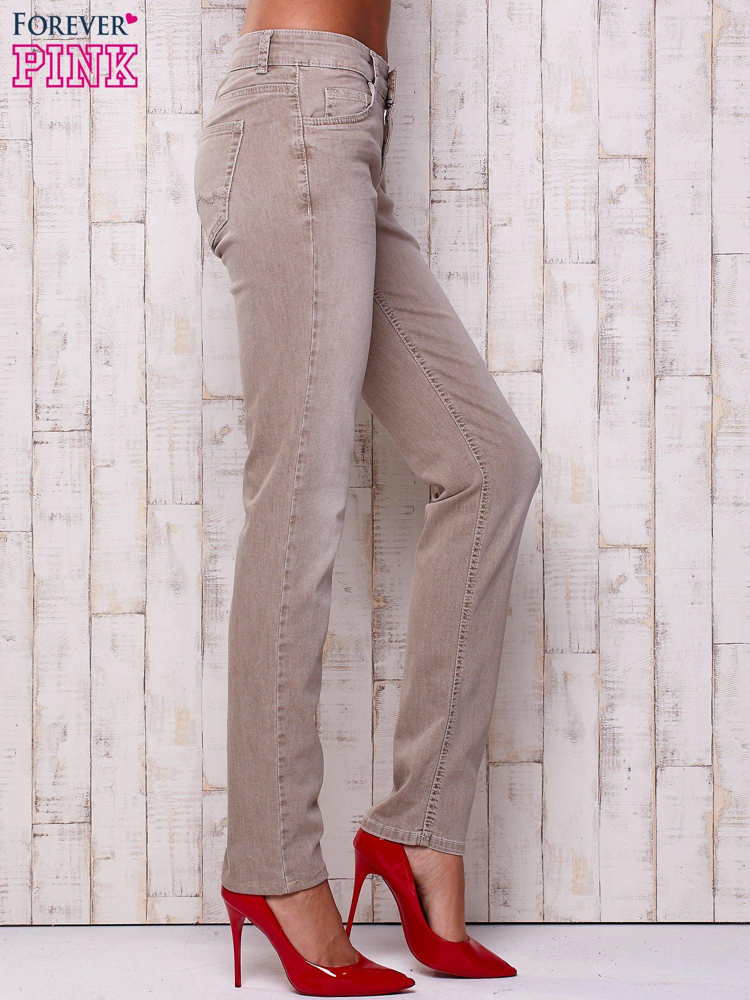 Szare spodnie z prostą nogawką                                  zdj.                                  3