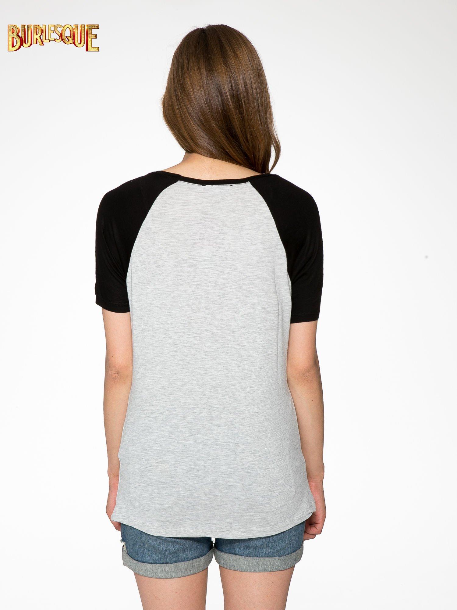 Szaro-czarny t-shirt z nadrukiem NEW YORK CITY 1983                                  zdj.                                  4