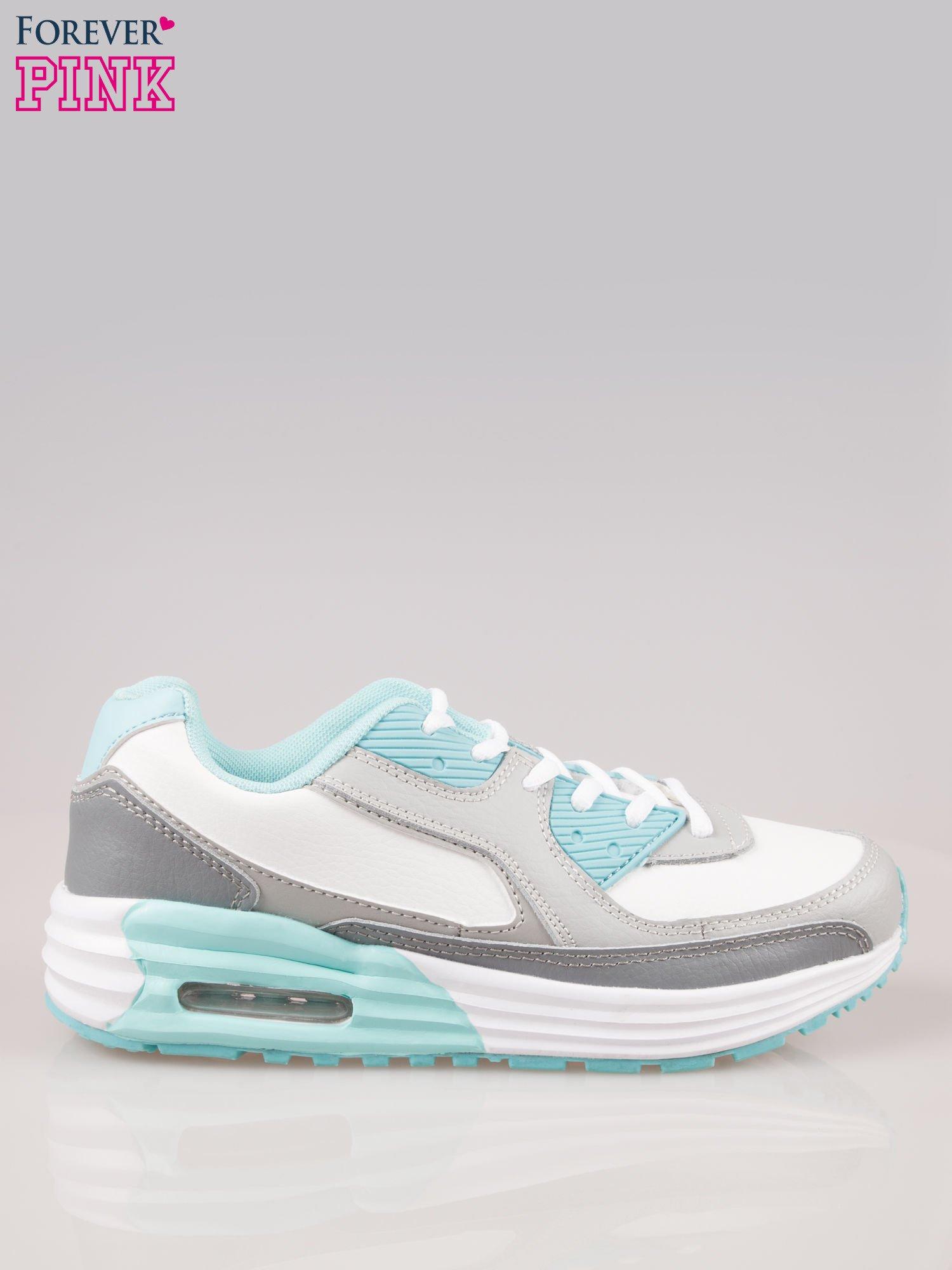 Szaro-niebieskie buty sportowe z poduszką powietrzną                                  zdj.                                  1