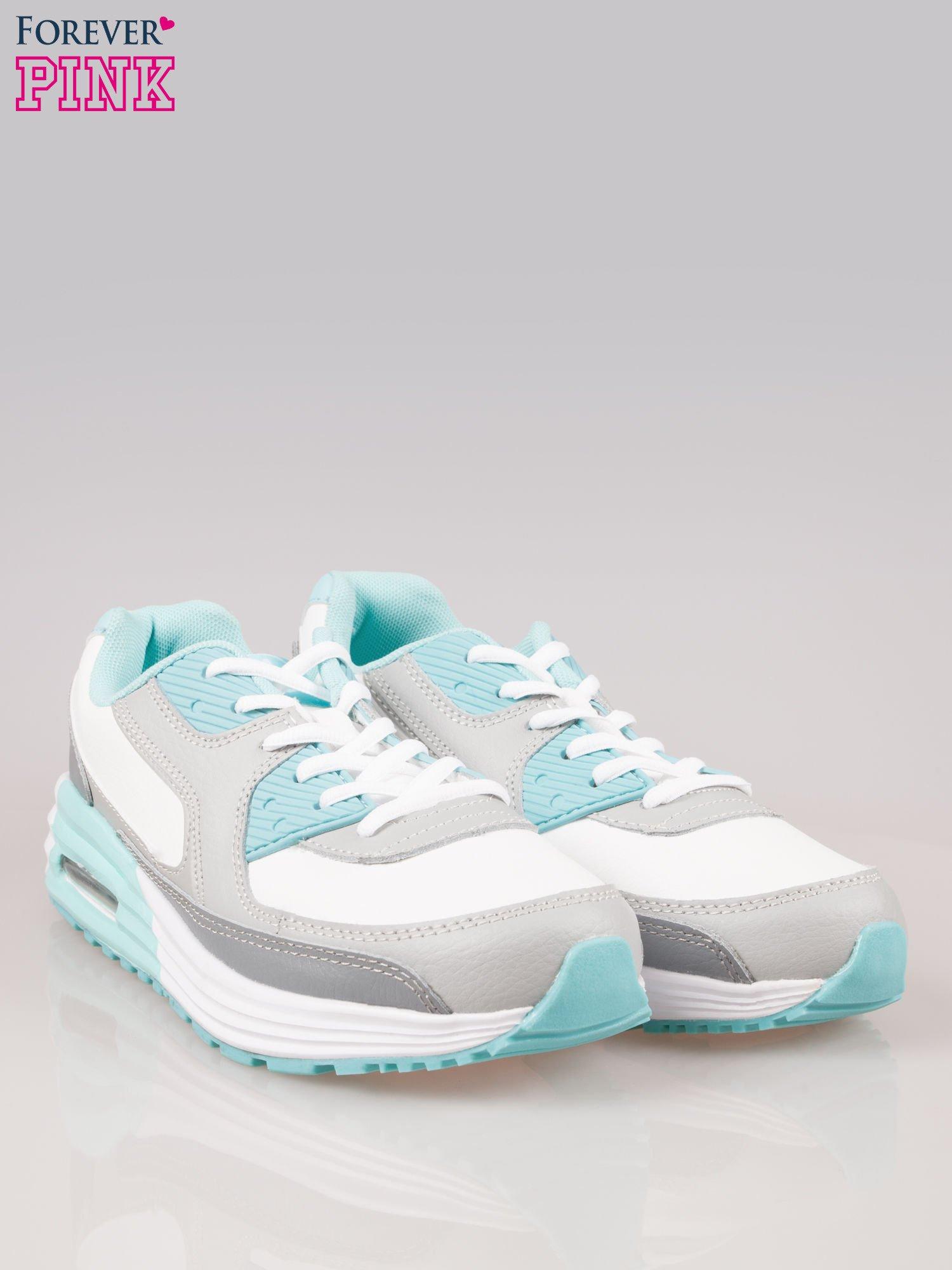 Szaro-niebieskie buty sportowe z poduszką powietrzną                                  zdj.                                  2