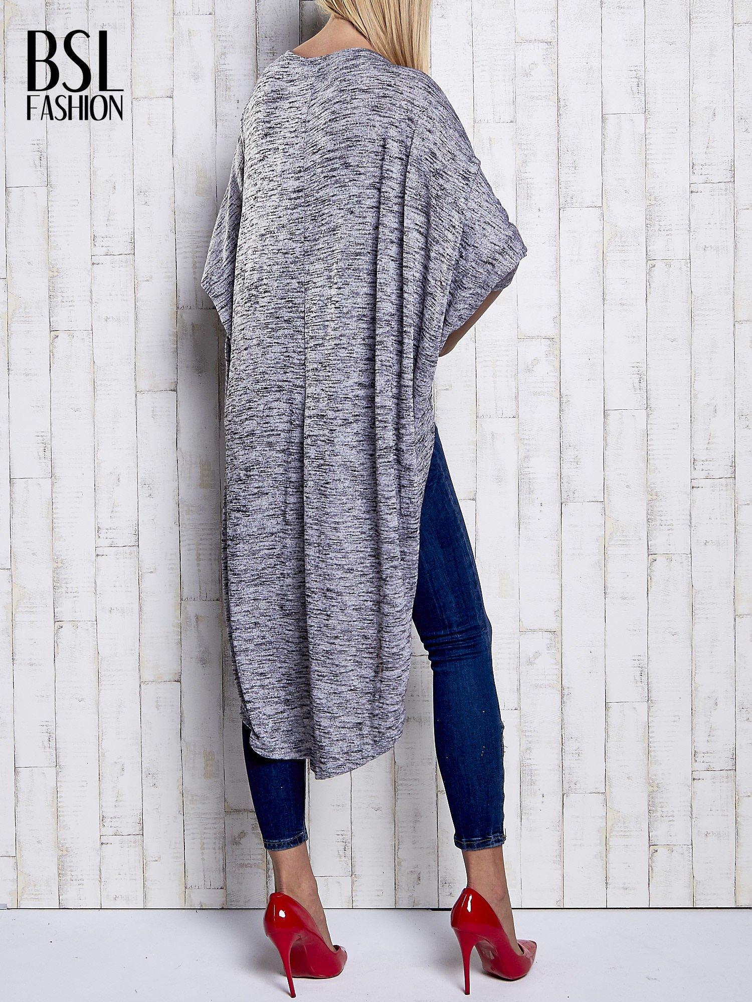 Szary melanżowy sweter z rękawem nietoperz                                  zdj.                                  5