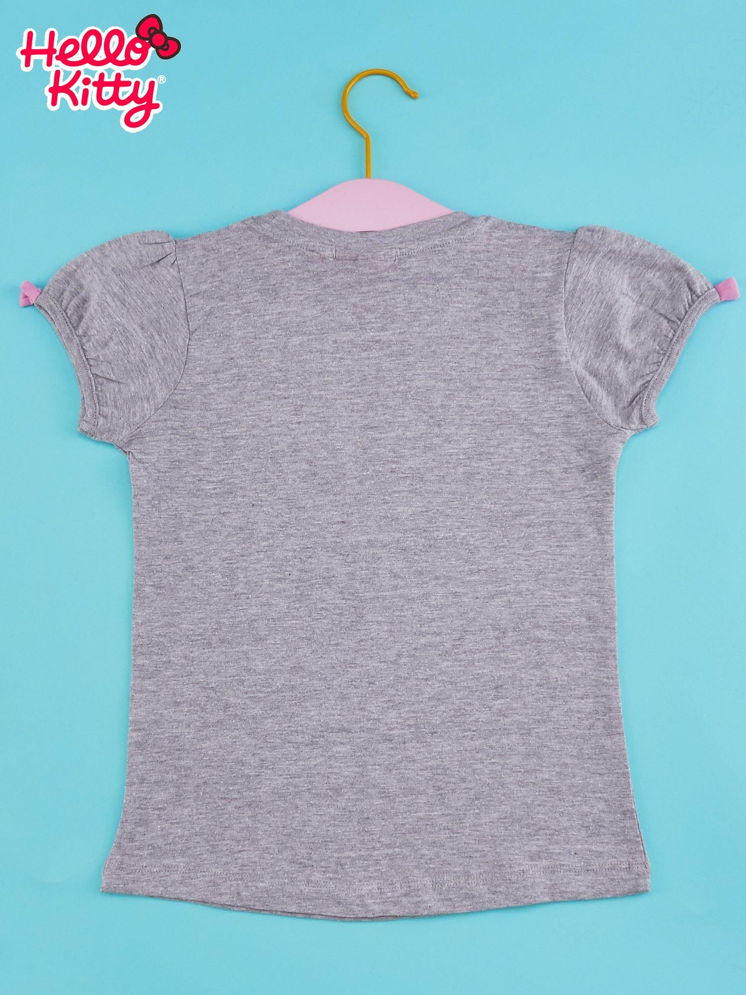 Szary t-shirt dla dziewczynki HELLO KITTY                                  zdj.                                  2