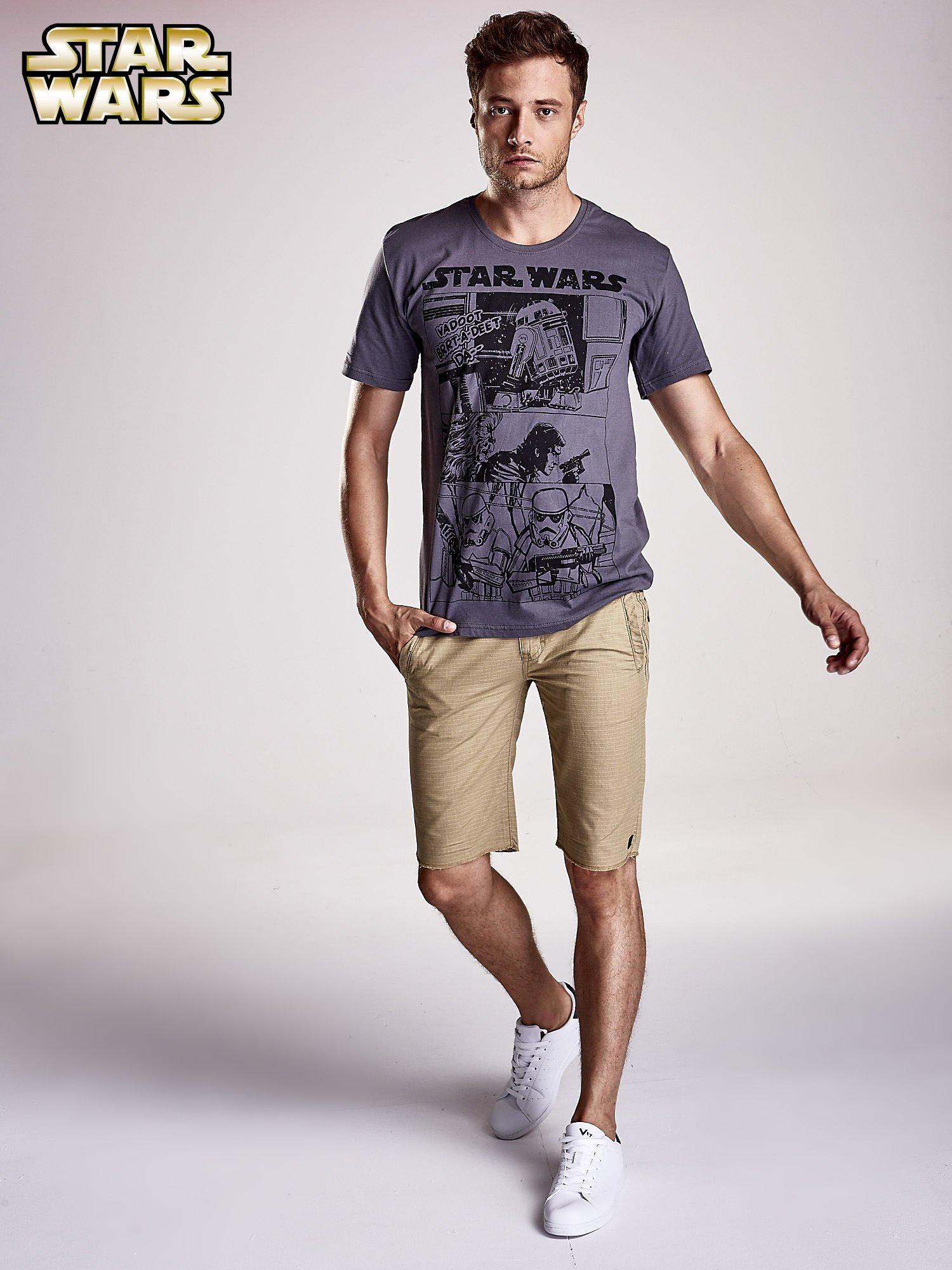Szary t-shirt męski STAR WARS                                  zdj.                                  2