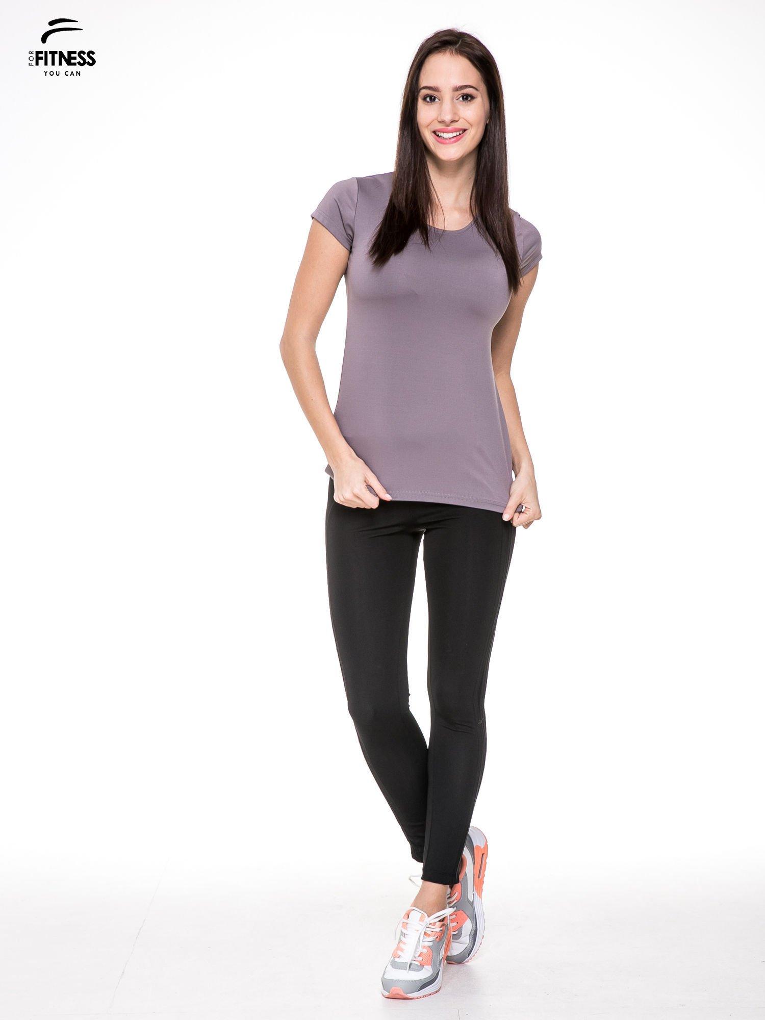 Szary termoaktywny t-shirt sportowy typu basic ♦ Performance RUN                                  zdj.                                  4
