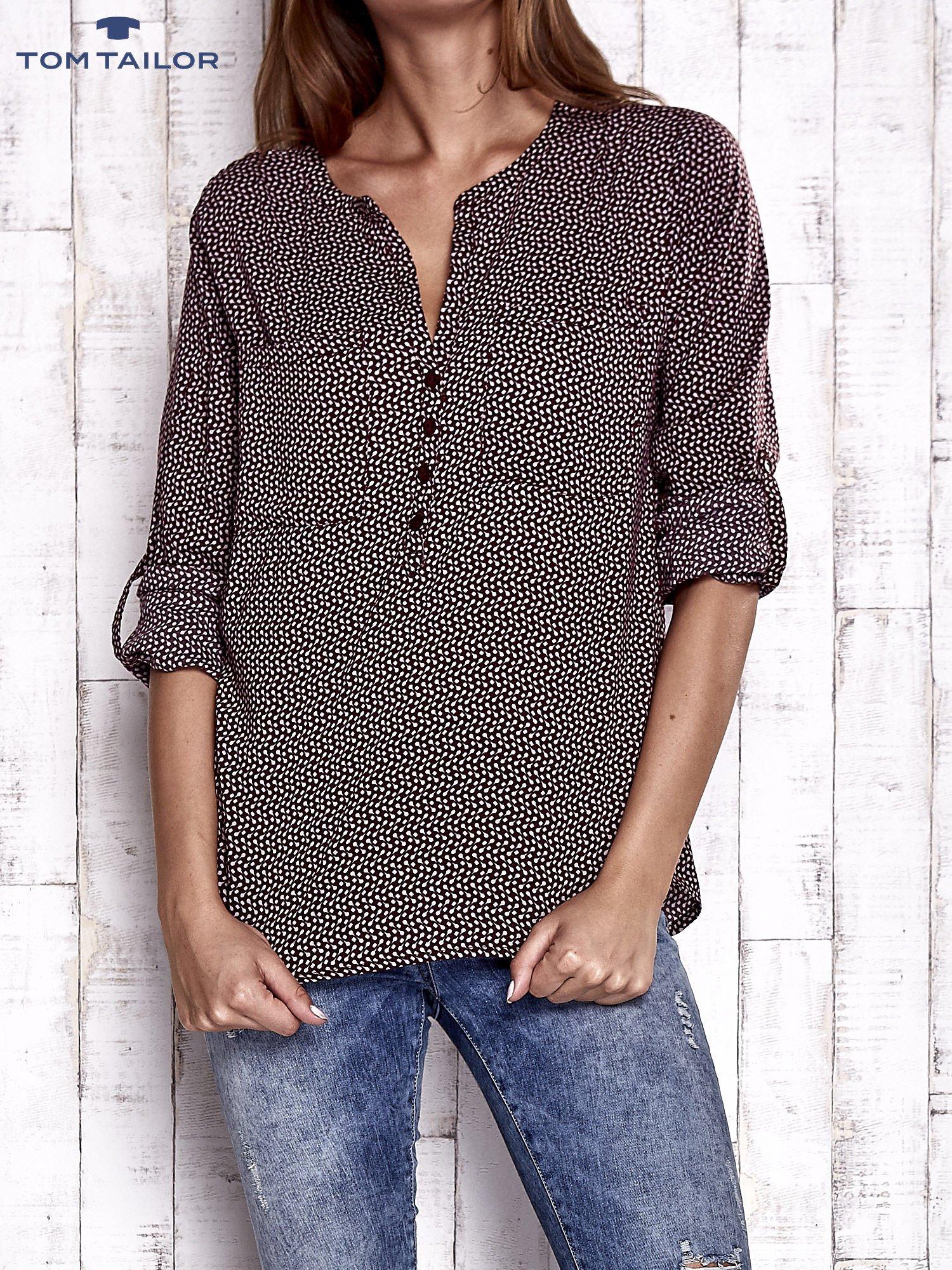 TOM TAILOR Bordowa koszula w drobne wzory                                  zdj.                                  2
